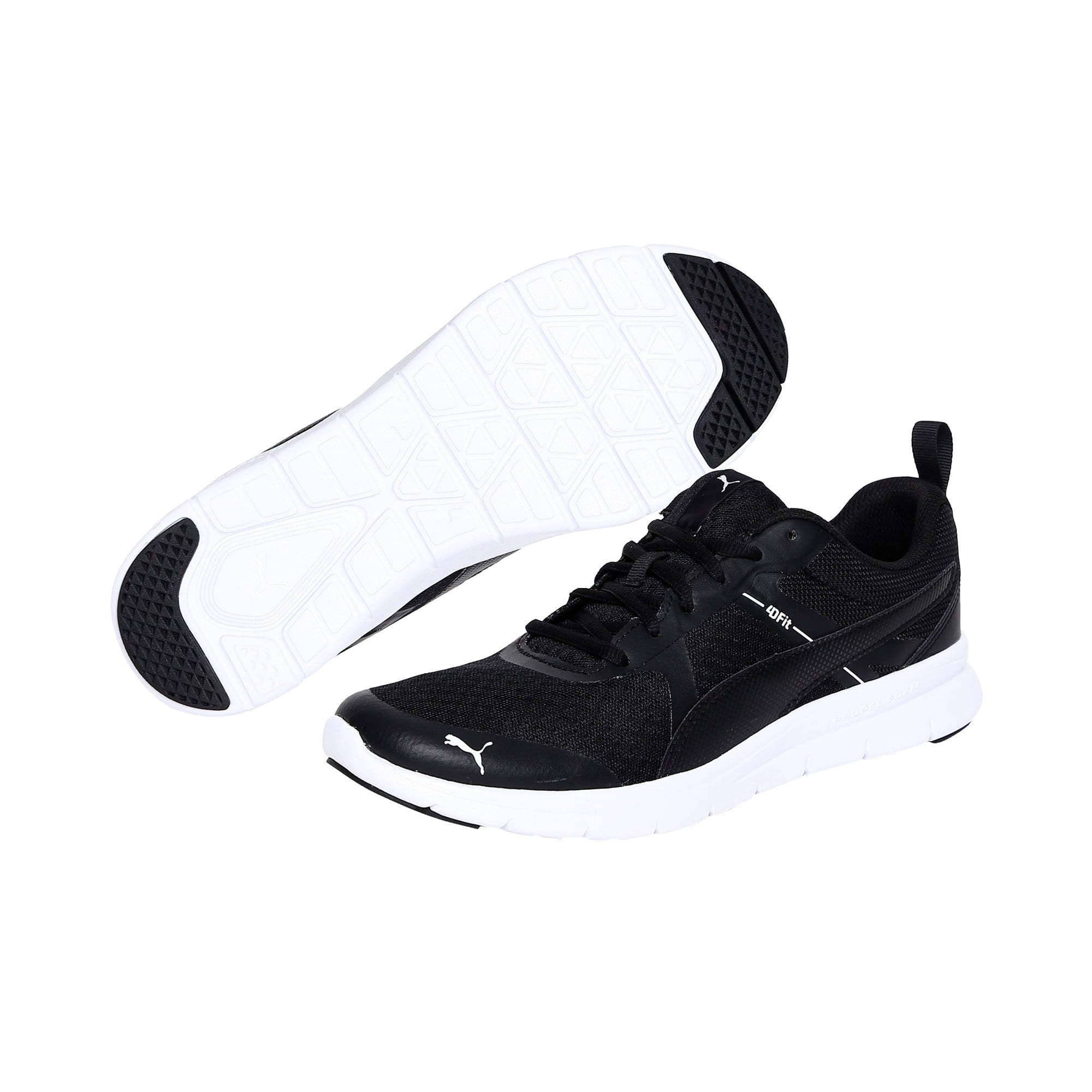 Thumbnail 2 of Flex Essential Trainers, Puma Black-Puma Black, medium-IND