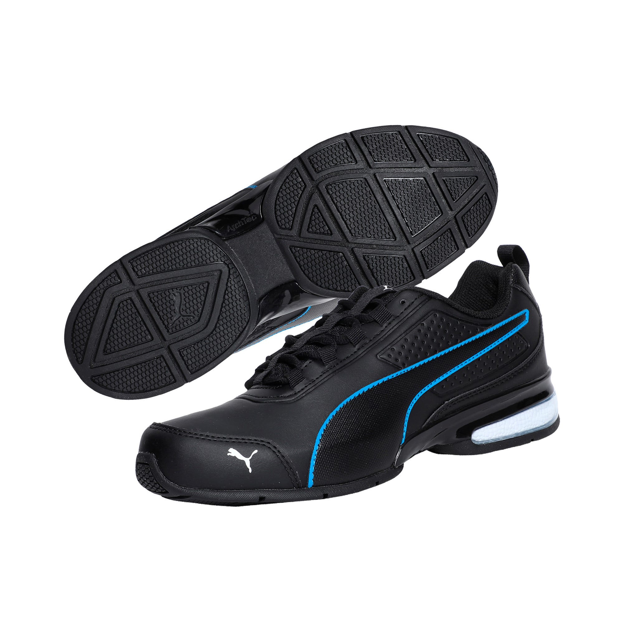 Thumbnail 2 of Leader VT SL Running Shoes, Black-White-Indigo Bunting, medium-IND