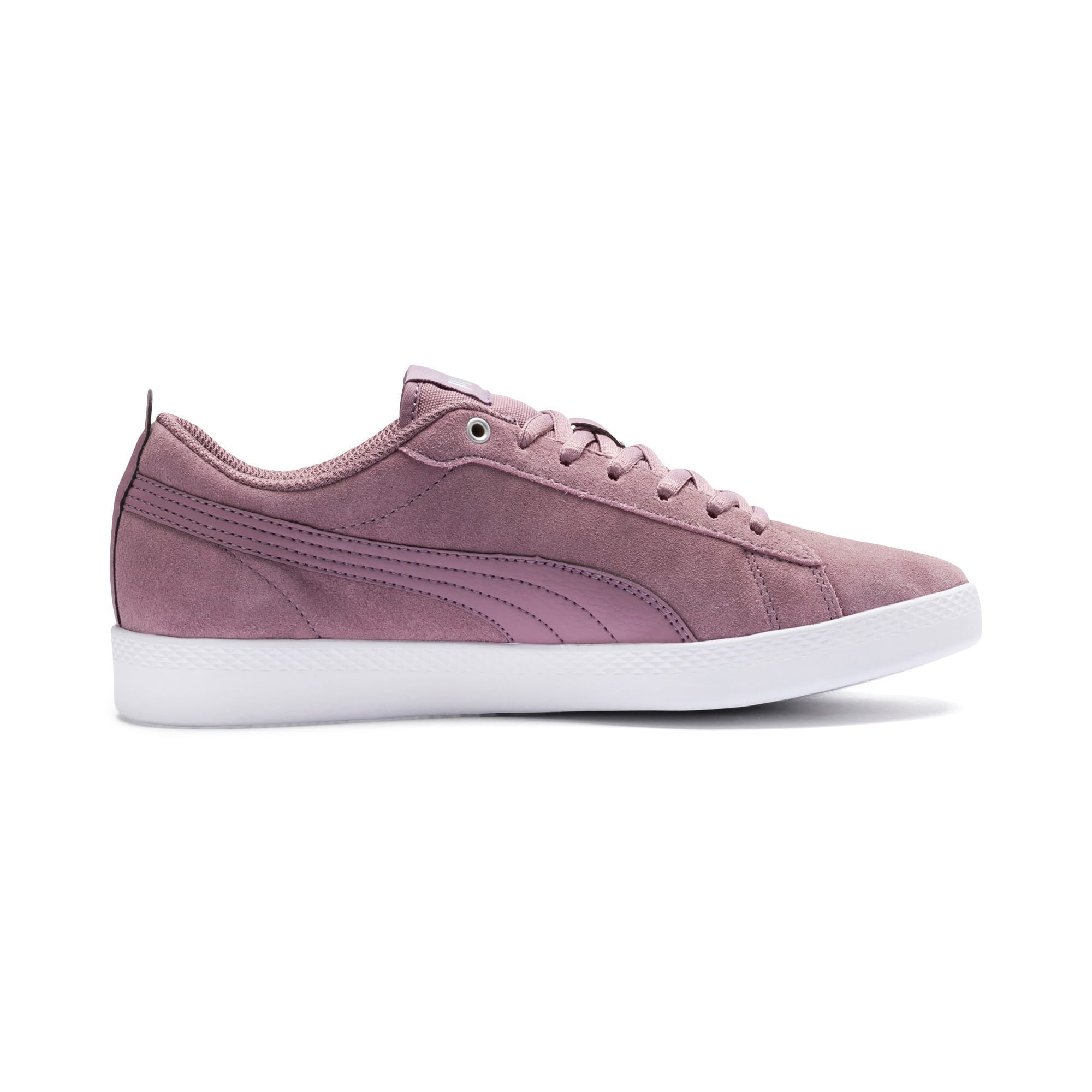 Thumbnail 5 of Smash v2 Suede Women's Sneakers, Elderberry-Silver-Puma White, medium