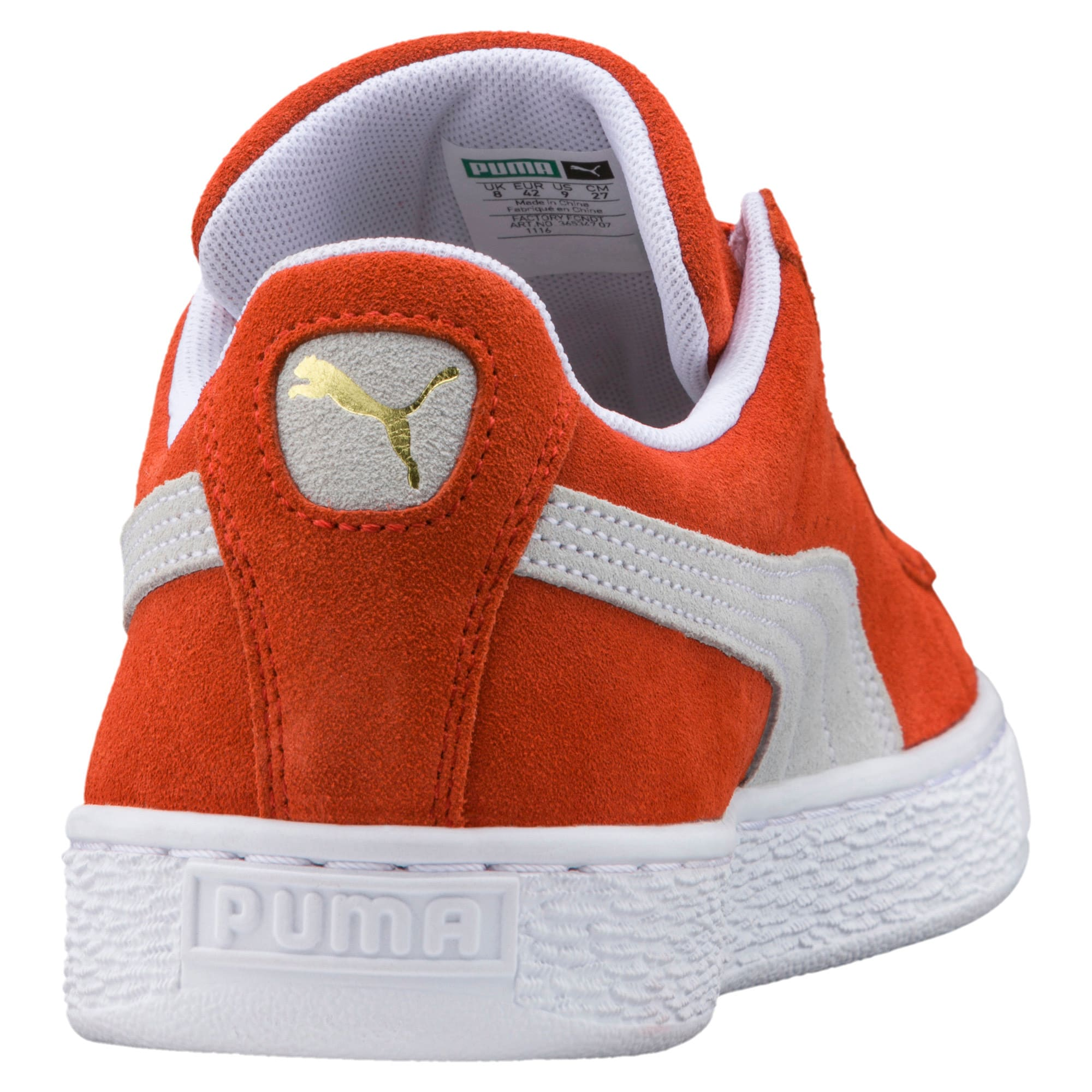 Thumbnail 4 of Suede Classic Trainers, Burnt Ochre-Puma White, medium-IND