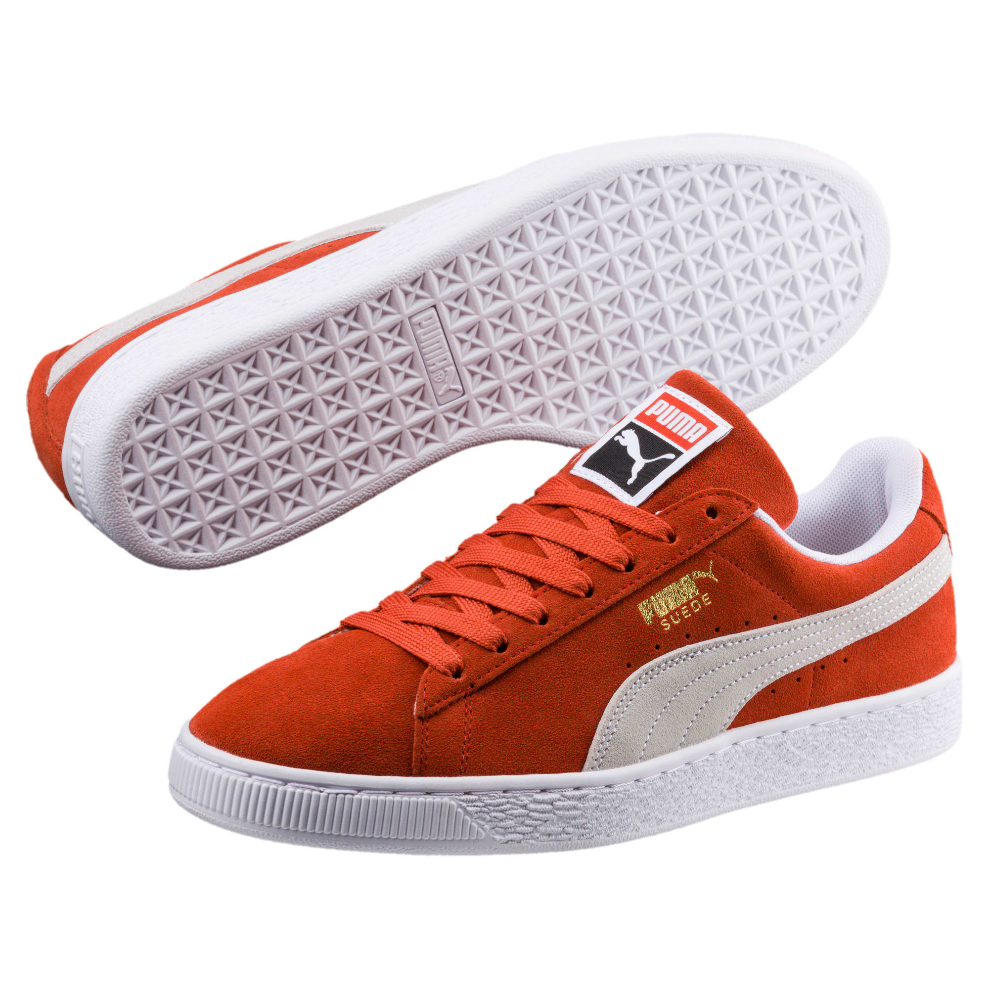 Thumbnail 2 of Suede Classic Trainers, Burnt Ochre-Puma White, medium-IND