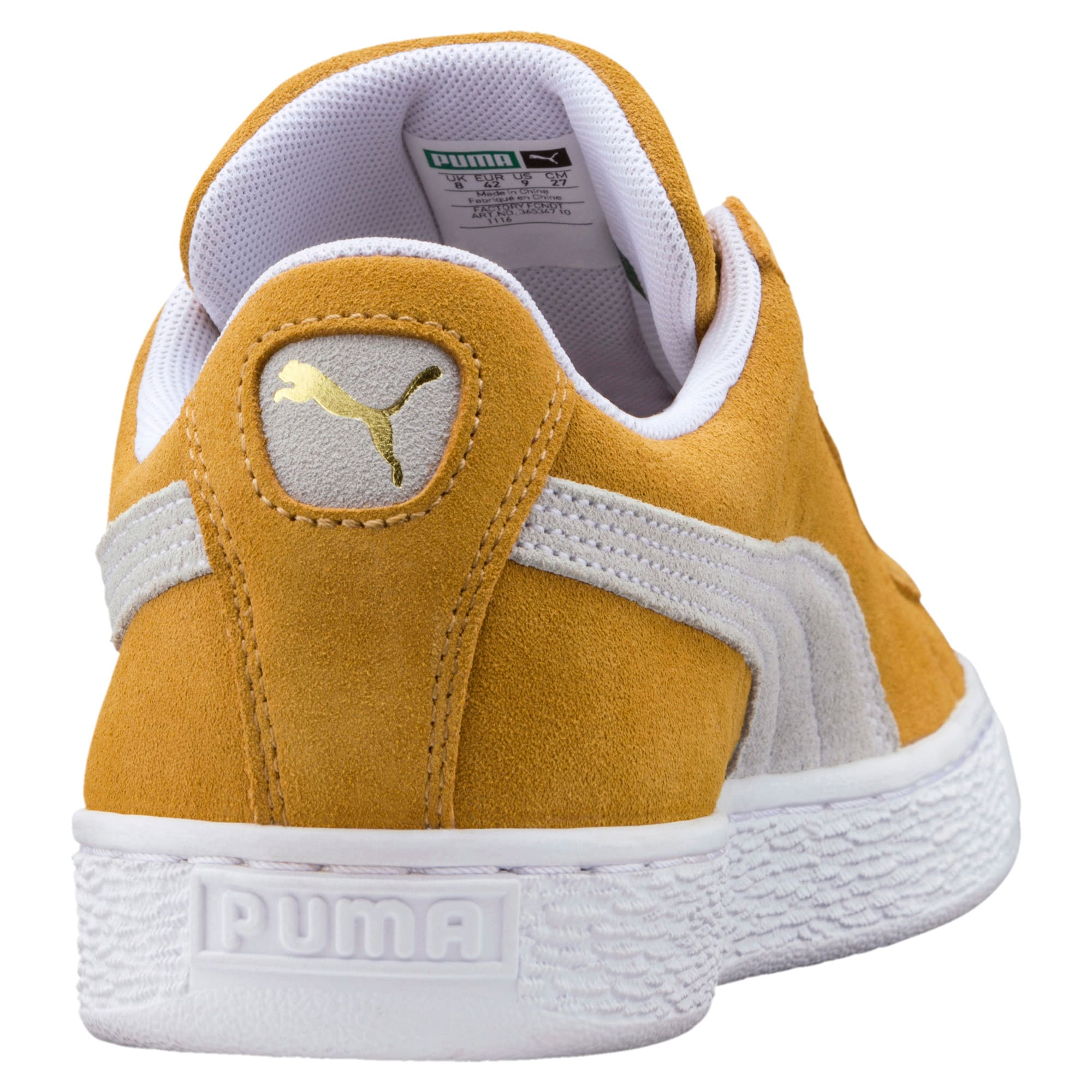 Thumbnail 4 of Suede Classic Trainers, Honey Mustard-Puma White, medium-IND