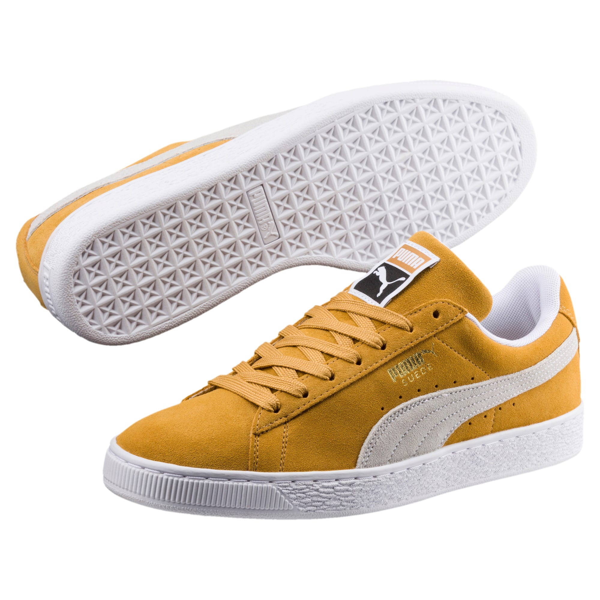 Thumbnail 2 of Suede Classic Trainers, Honey Mustard-Puma White, medium-IND