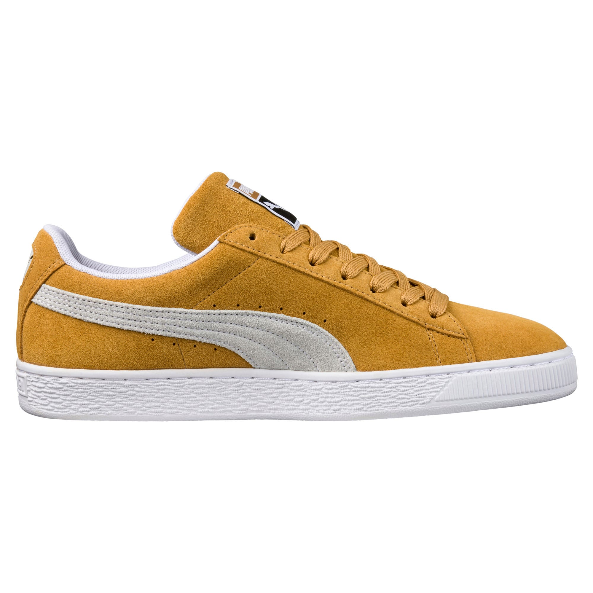 Thumbnail 3 of Suede Classic Trainers, Honey Mustard-Puma White, medium-IND