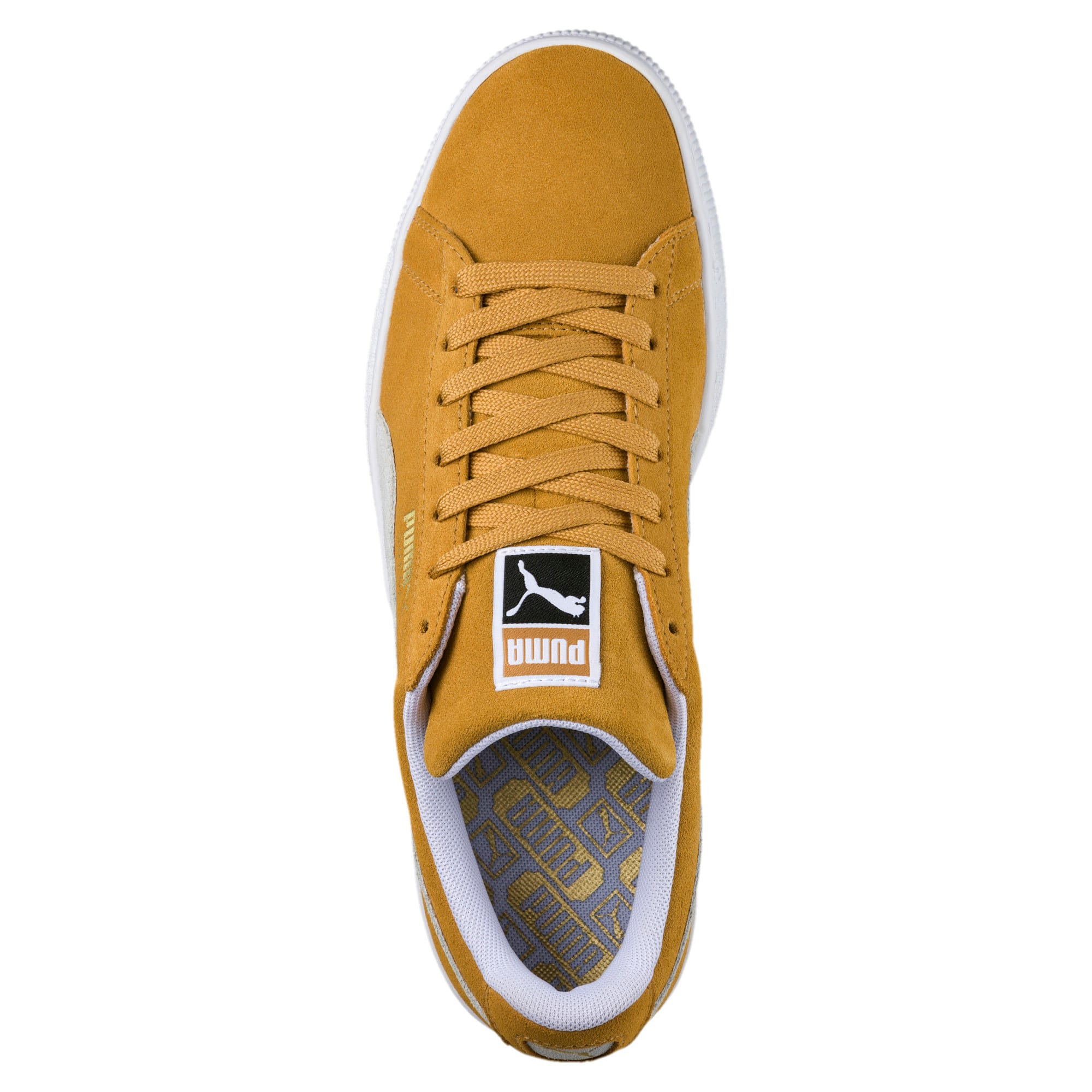 Thumbnail 5 of Suede Classic Trainers, Honey Mustard-Puma White, medium-IND