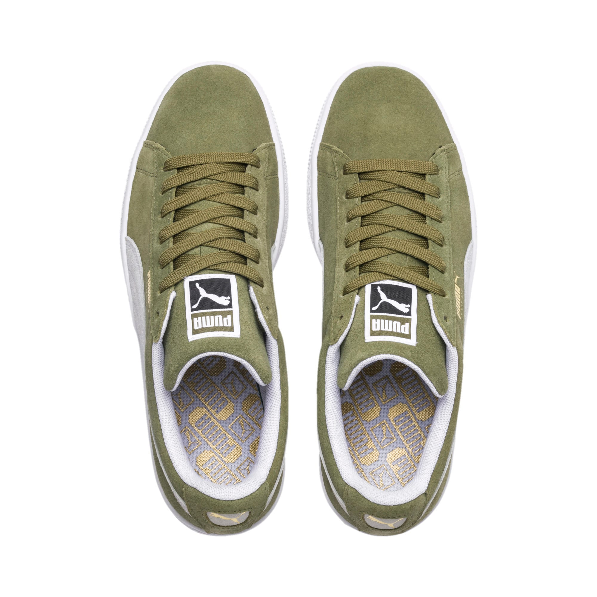 Suede Classic Trainers, Capulet Olive-Puma White, large-IND
