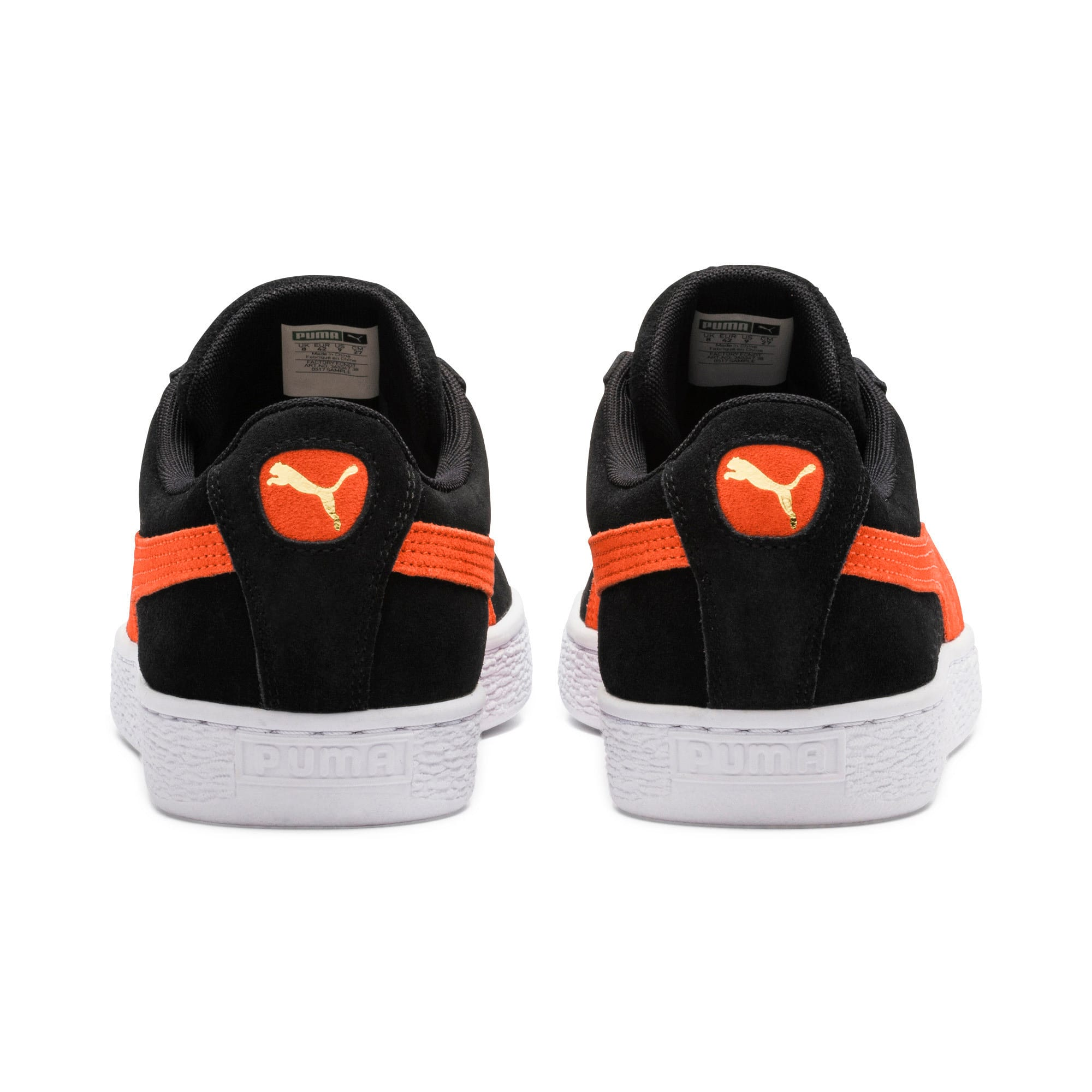 Thumbnail 4 of Suede Classic Trainers, Black-Firecracker- White, medium-IND