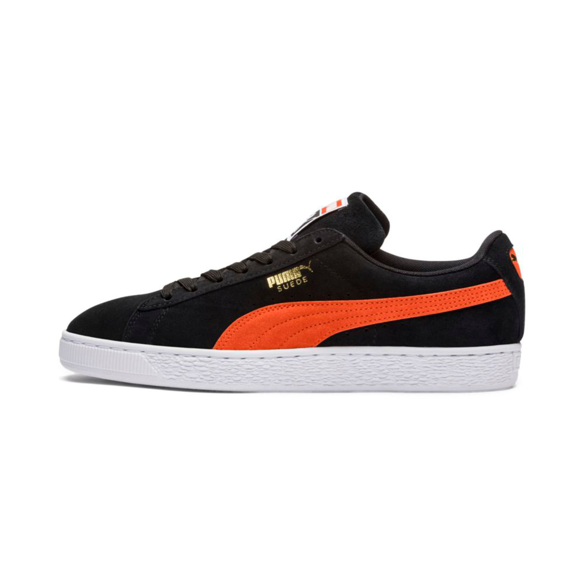 Thumbnail 1 of Suede Classic Trainers, Black-Firecracker- White, medium-IND
