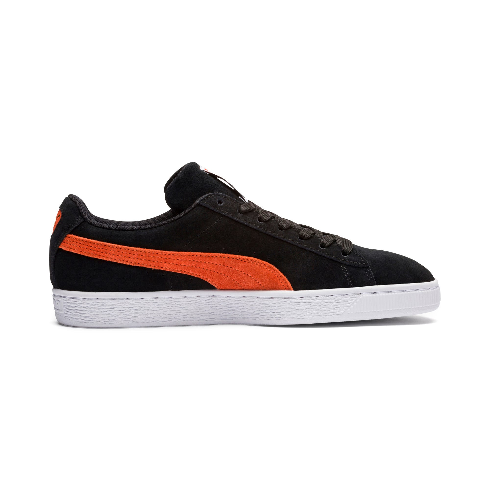 Thumbnail 2 of Suede Classic Trainers, Black-Firecracker- White, medium-IND