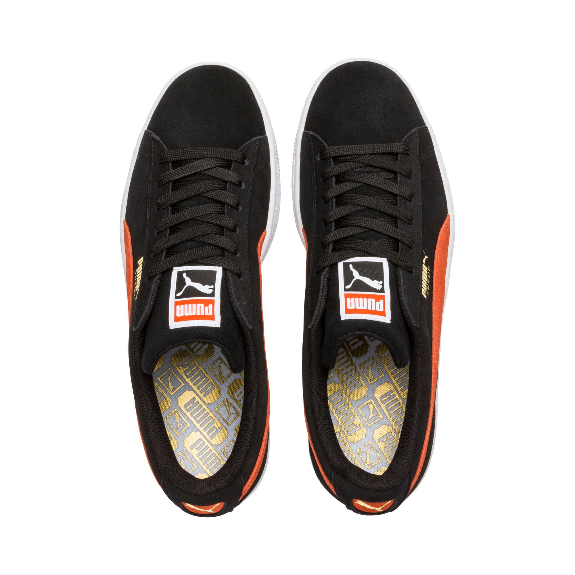 Thumbnail 6 of Suede Classic Trainers, Black-Firecracker- White, medium-IND