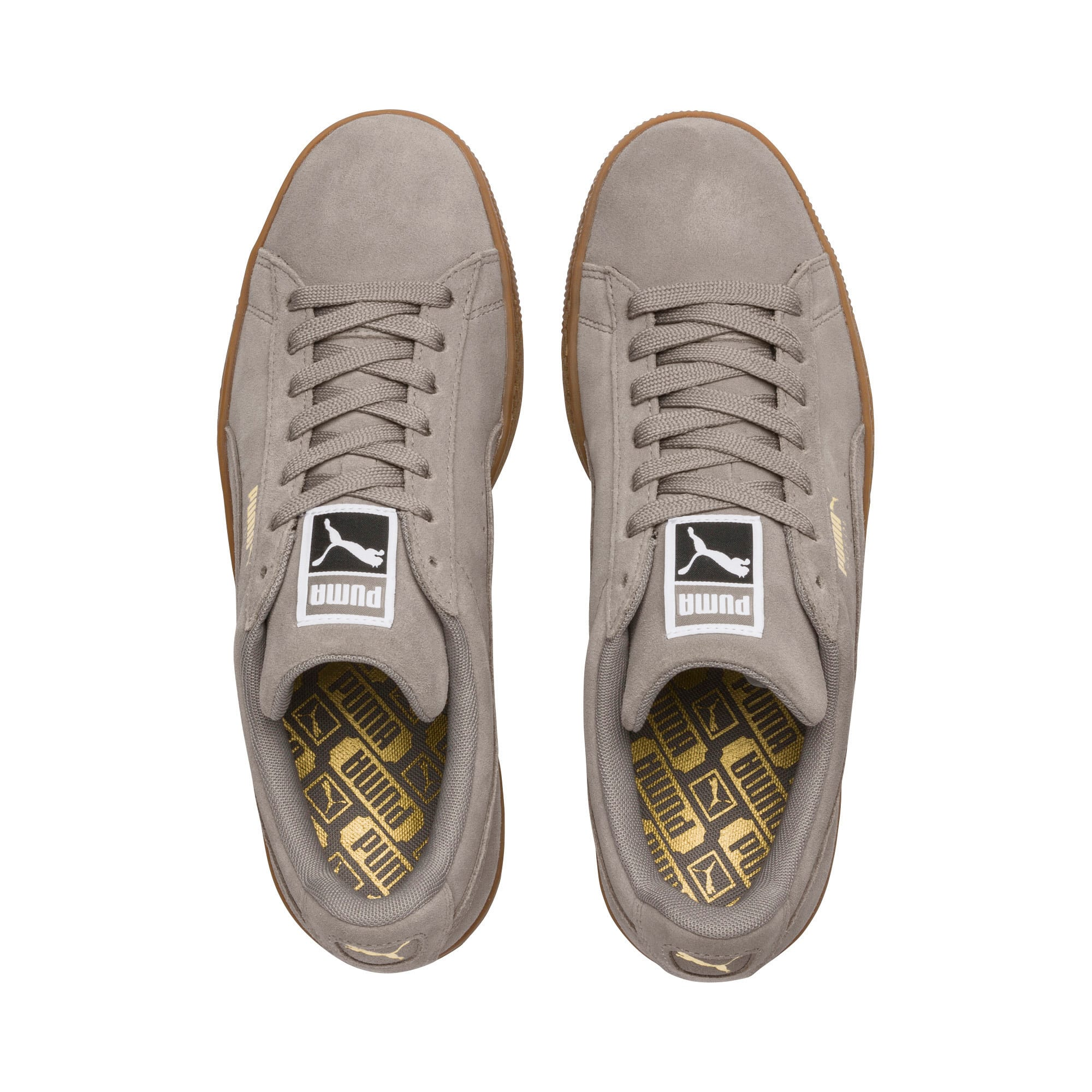 Thumbnail 6 of Suede Classic Trainers, Elephant Skin- Team Gold, medium-IND