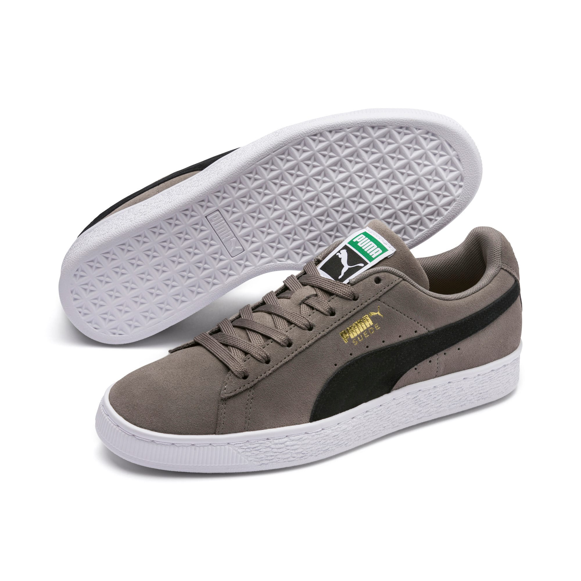 Thumbnail 2 of Suede Classic Trainers, Charcoal Gray-Puma Black, medium