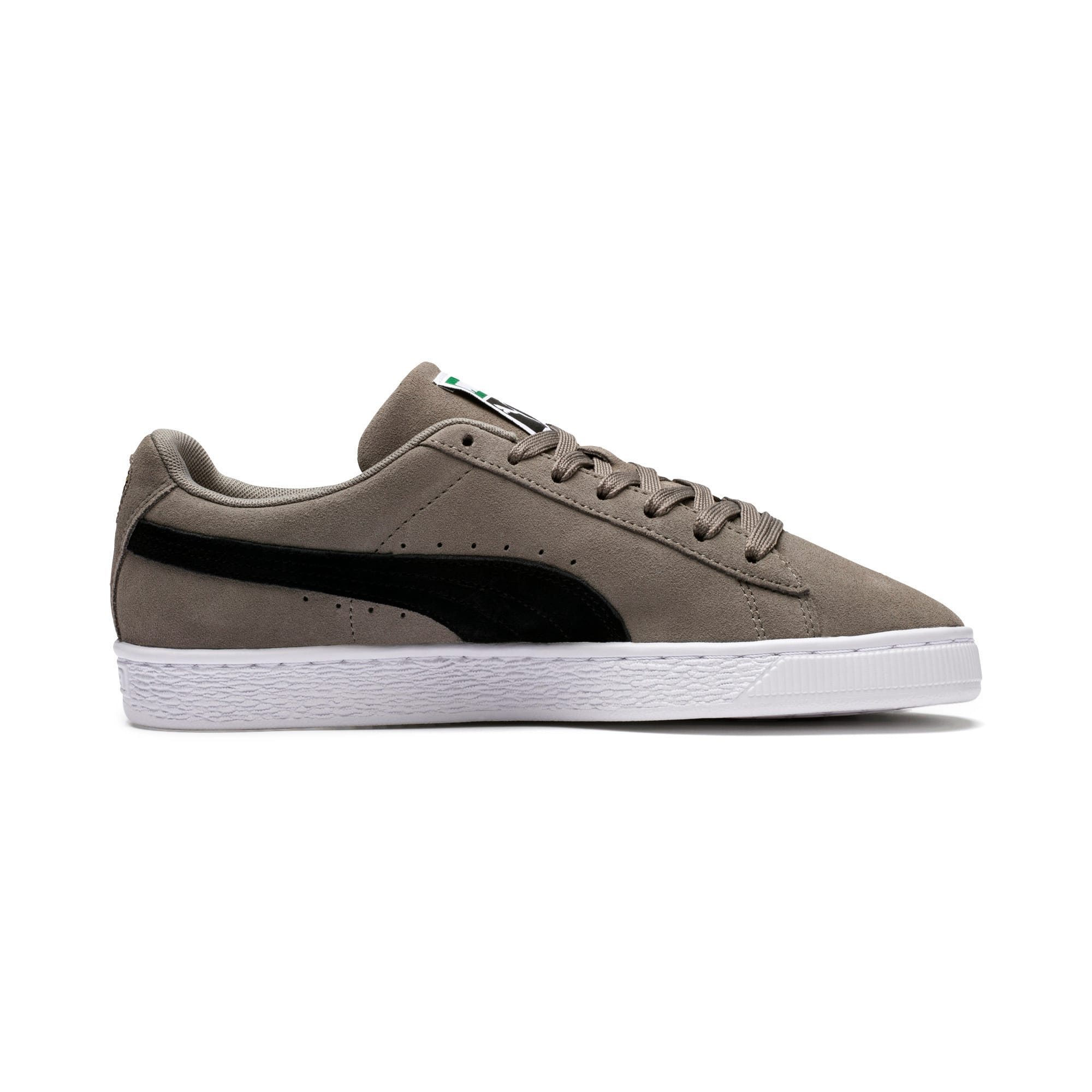 Thumbnail 5 of Suede Classic Trainers, Charcoal Gray-Puma Black, medium