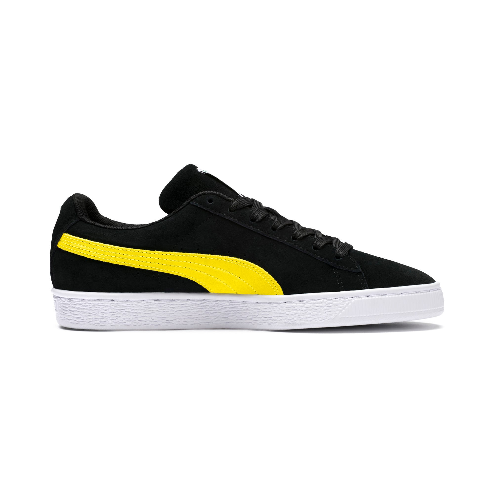 Thumbnail 5 of Suede Classic Trainers, Puma Black-Blazing Yellow, medium