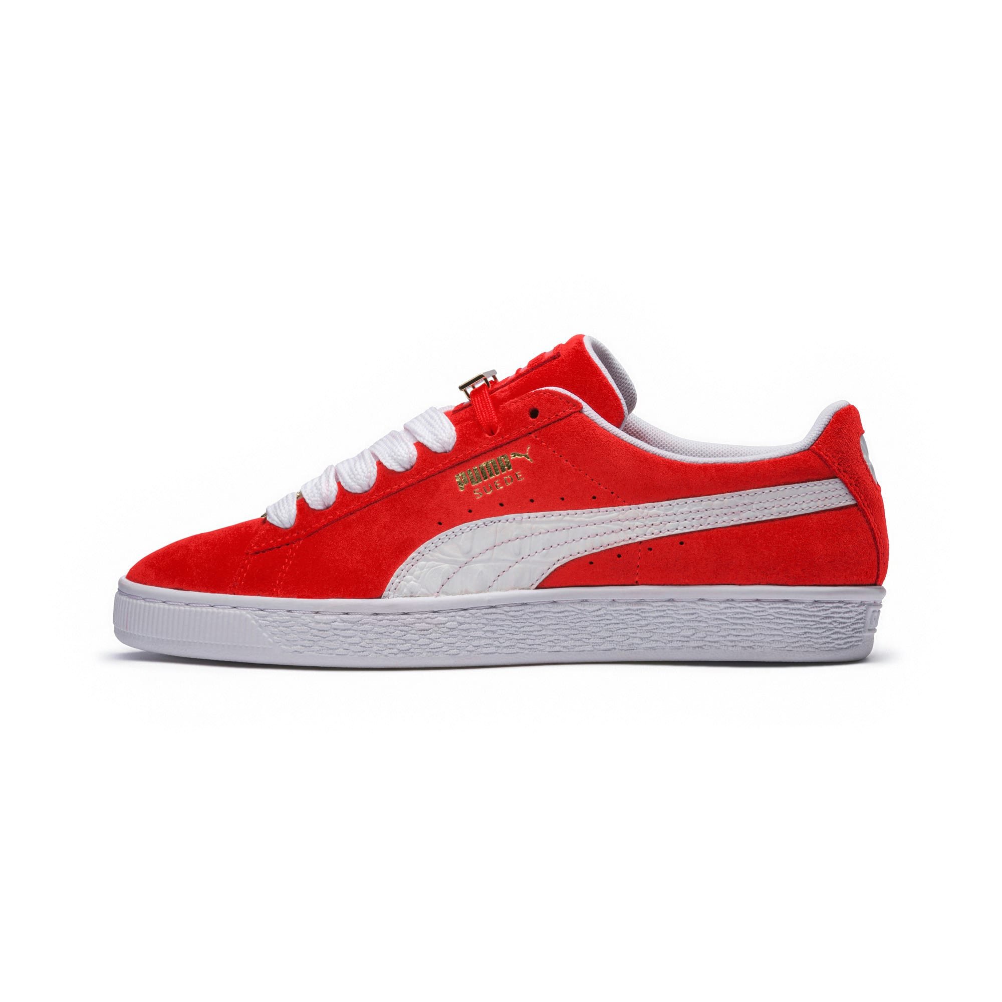 Thumbnail 6 of Suede Classic B-BOY Fabulous Trainers, Flame Scarlet-Puma White, medium-IND