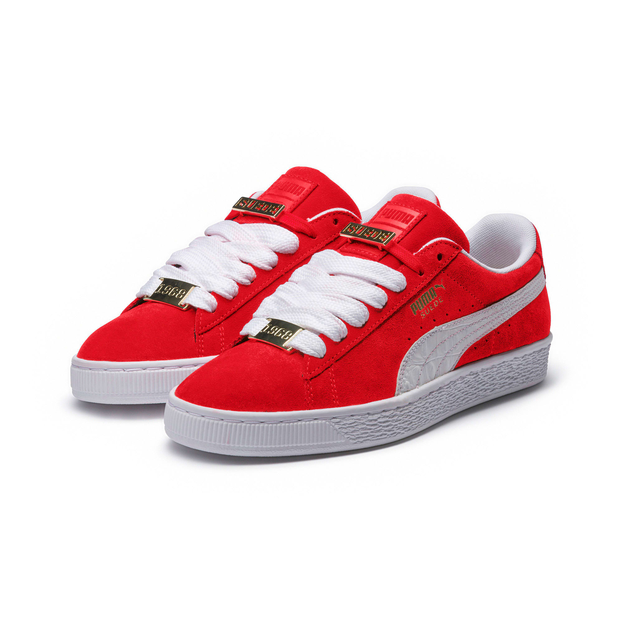 Thumbnail 2 of Suede Classic B-BOY Fabulous Trainers, Flame Scarlet-Puma White, medium-IND