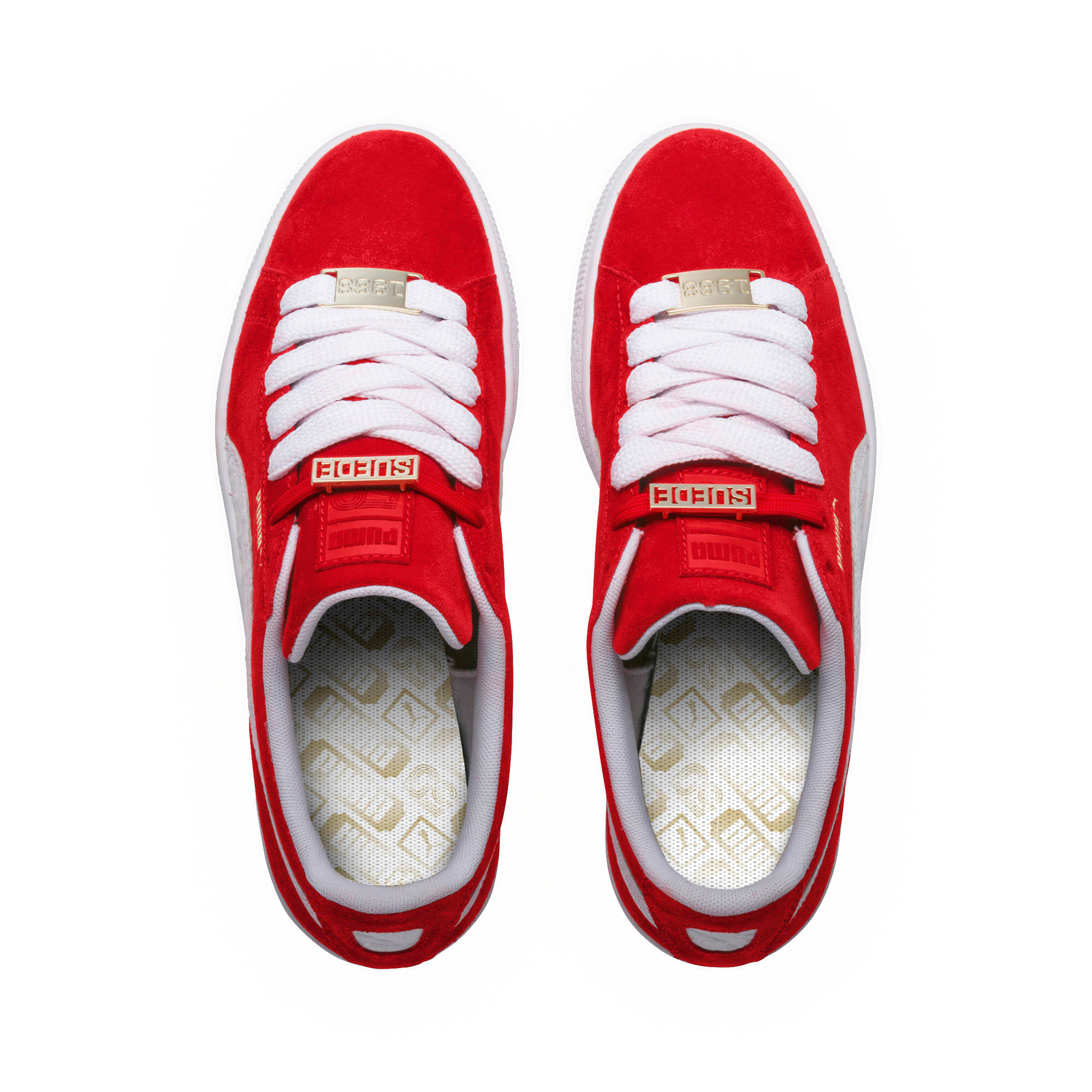 Thumbnail 5 of Suede Classic B-BOY Fabulous Trainers, Flame Scarlet-Puma White, medium-IND