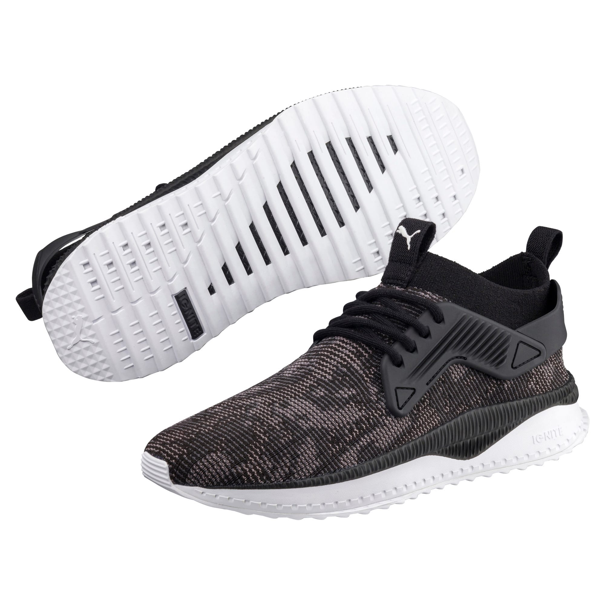 Thumbnail 2 of TSUGI Cage evoKNIT WF Trainers, Puma Black-Puma White-, medium-IND