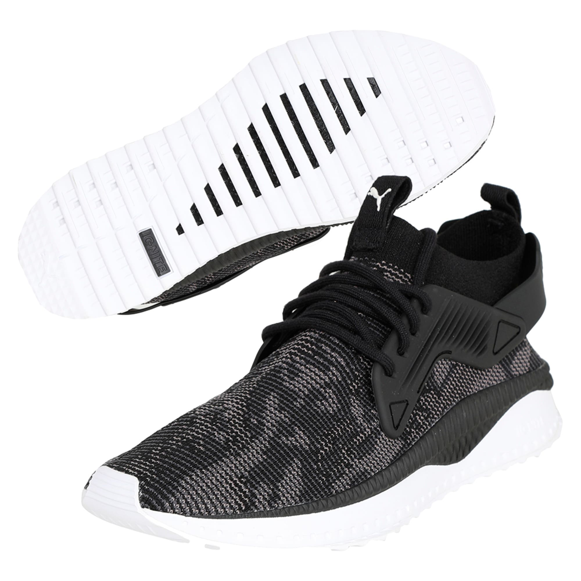 Thumbnail 6 of TSUGI Cage evoKNIT WF Trainers, Puma Black-Puma White-, medium-IND