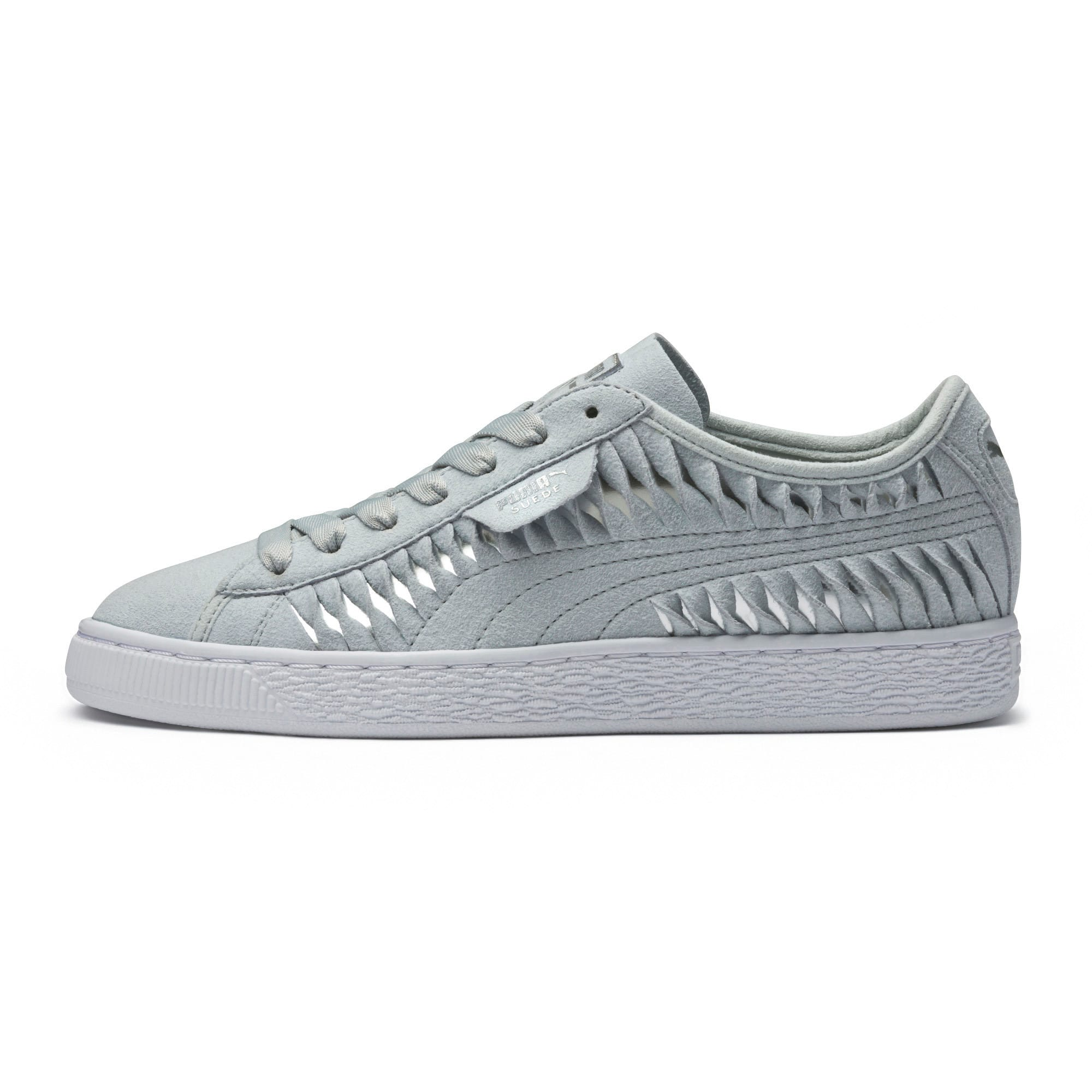 Thumbnail 6 of Suede Metallic Entwine Women's Trainers, Glacier Gray-Silver, medium-IND