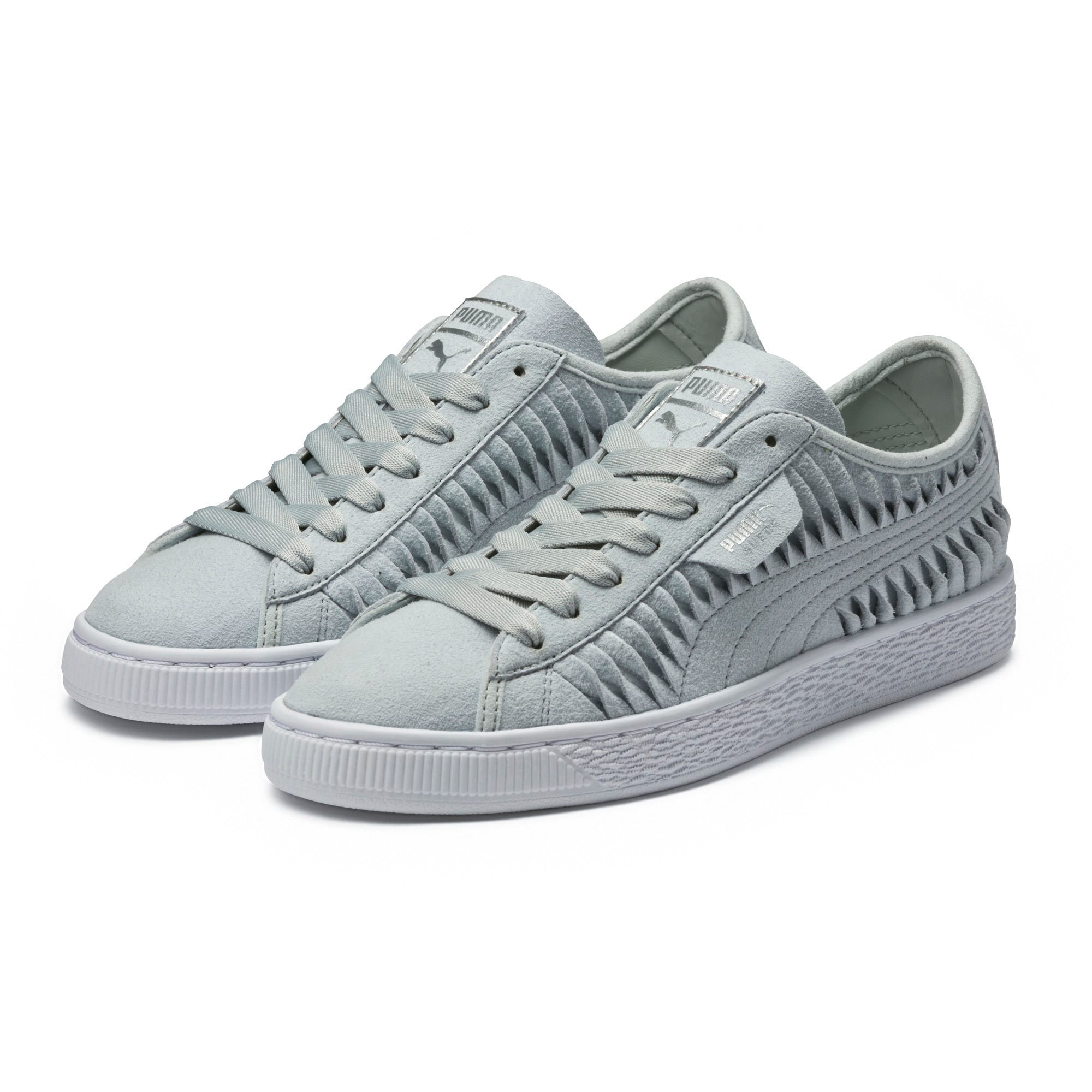 Thumbnail 2 of Suede Metallic Entwine Women's Trainers, Glacier Gray-Silver, medium-IND