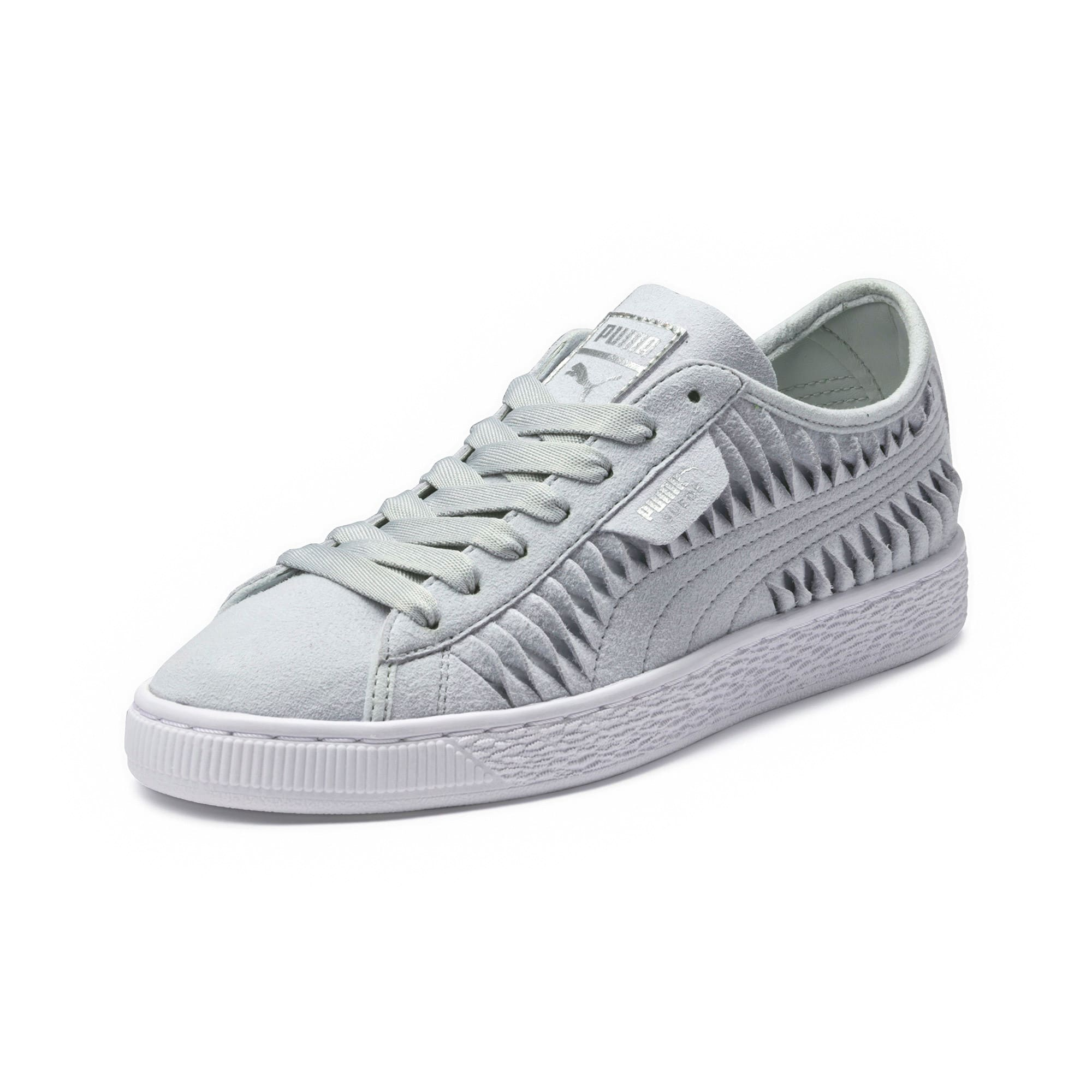 Thumbnail 1 of Suede Metallic Entwine Women's Trainers, Glacier Gray-Silver, medium-IND