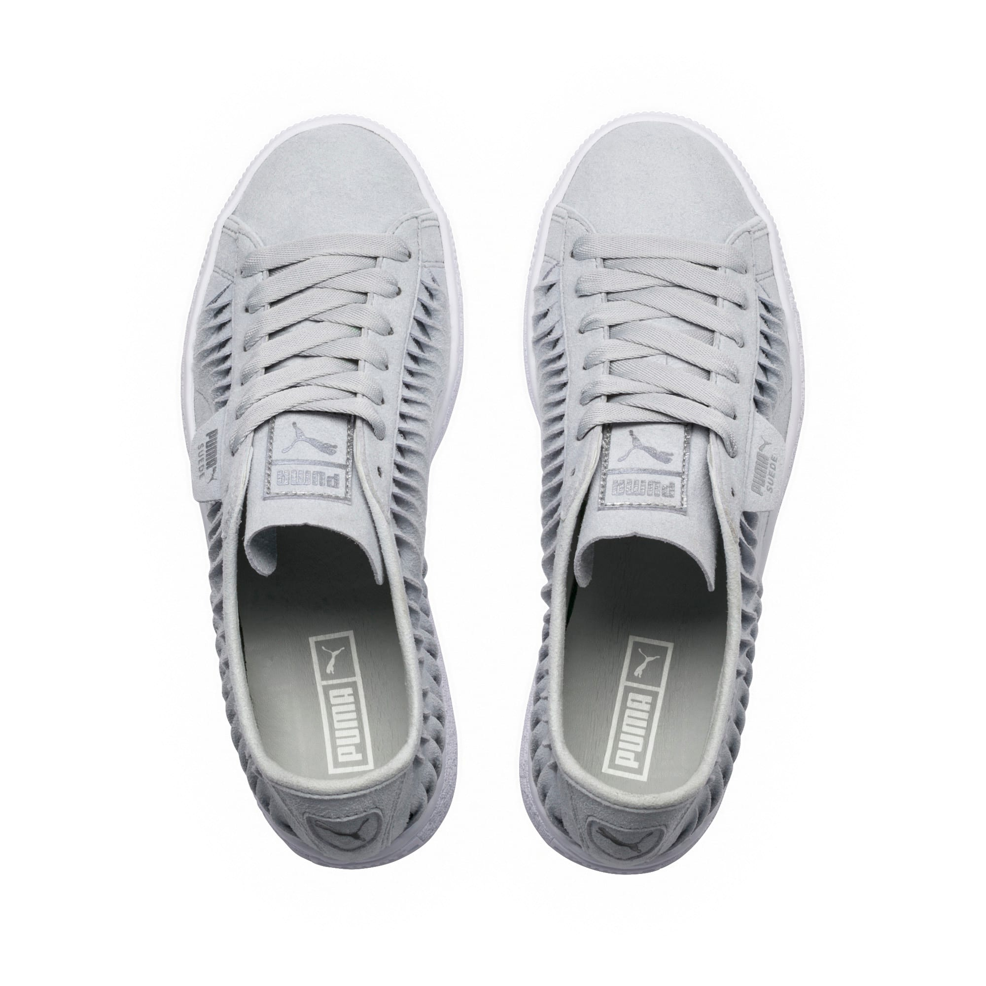 Thumbnail 5 of Suede Metallic Entwine Women's Trainers, Glacier Gray-Silver, medium-IND