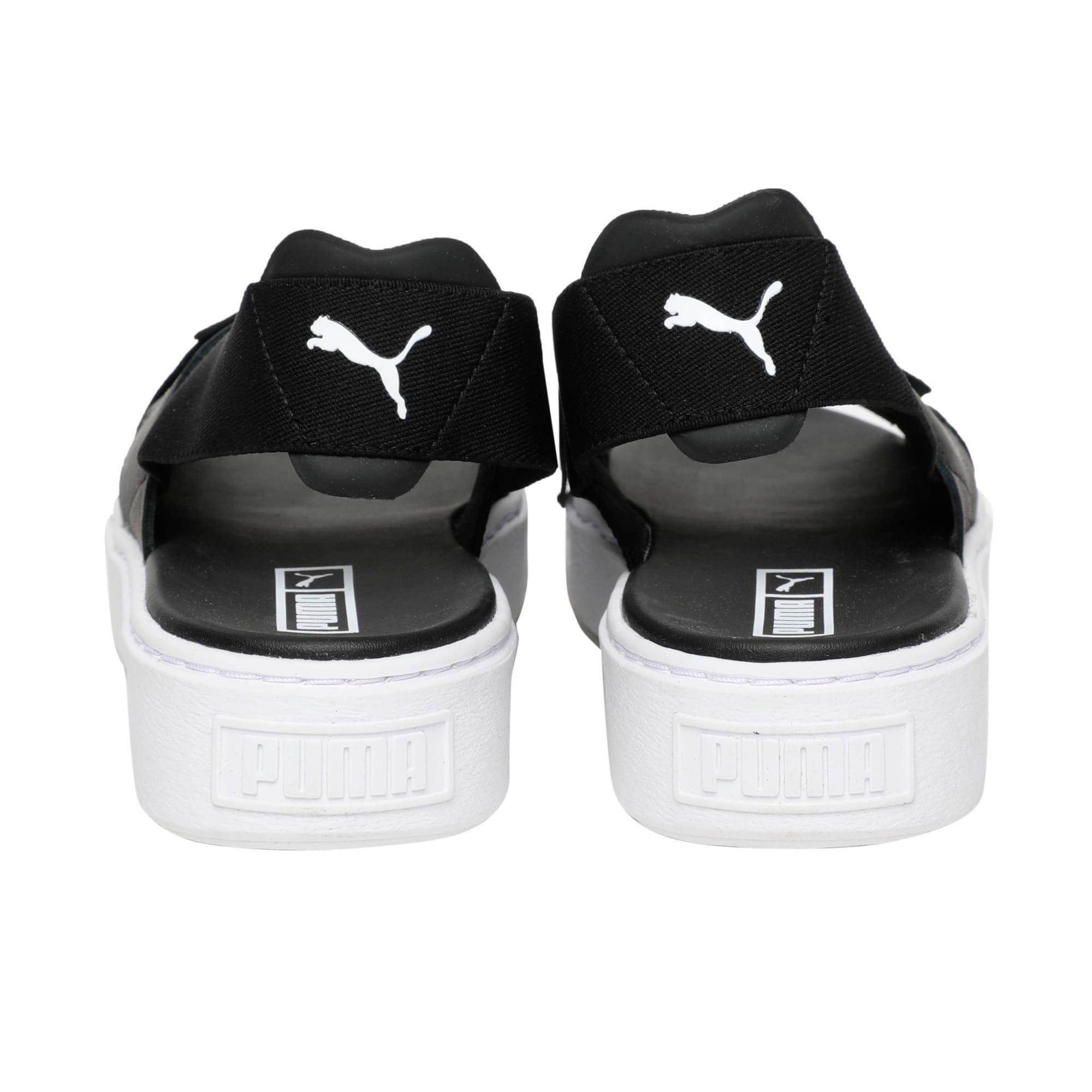 Thumbnail 4 of Platform Leather Women's Sandals, Puma Black-Puma Black, medium-IND