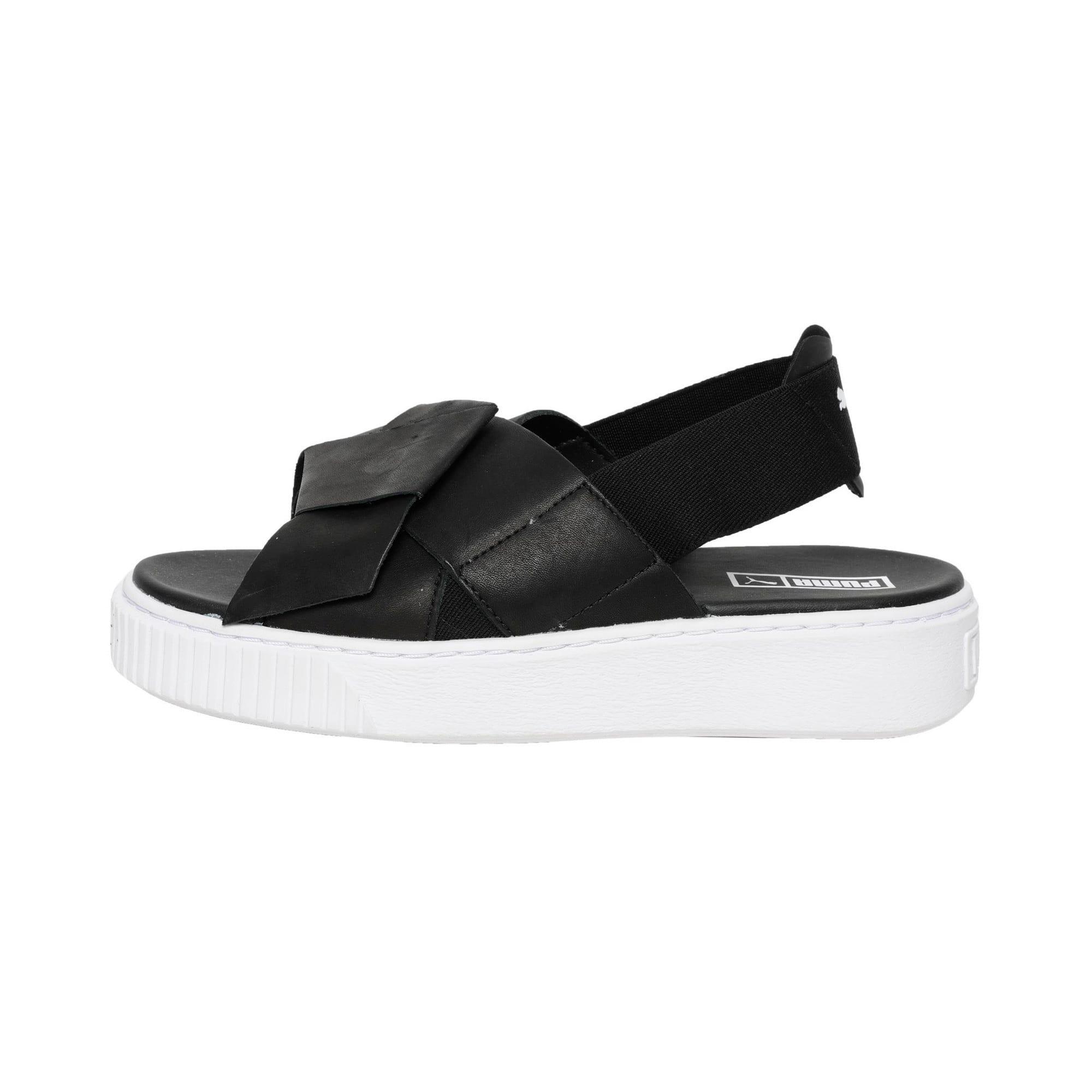 Thumbnail 1 of Platform Leather Women's Sandals, Puma Black-Puma Black, medium-IND