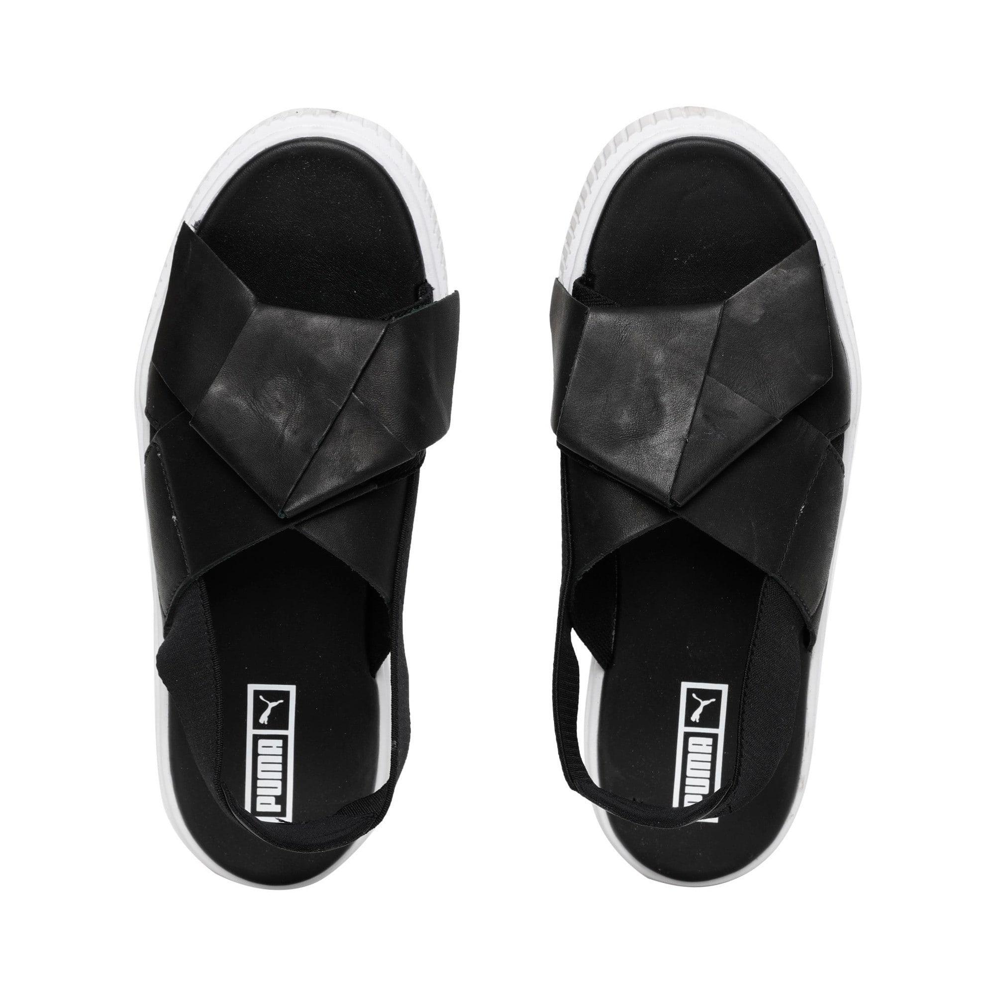 Thumbnail 7 of Platform Leather Women's Sandals, Puma Black-Puma Black, medium-IND