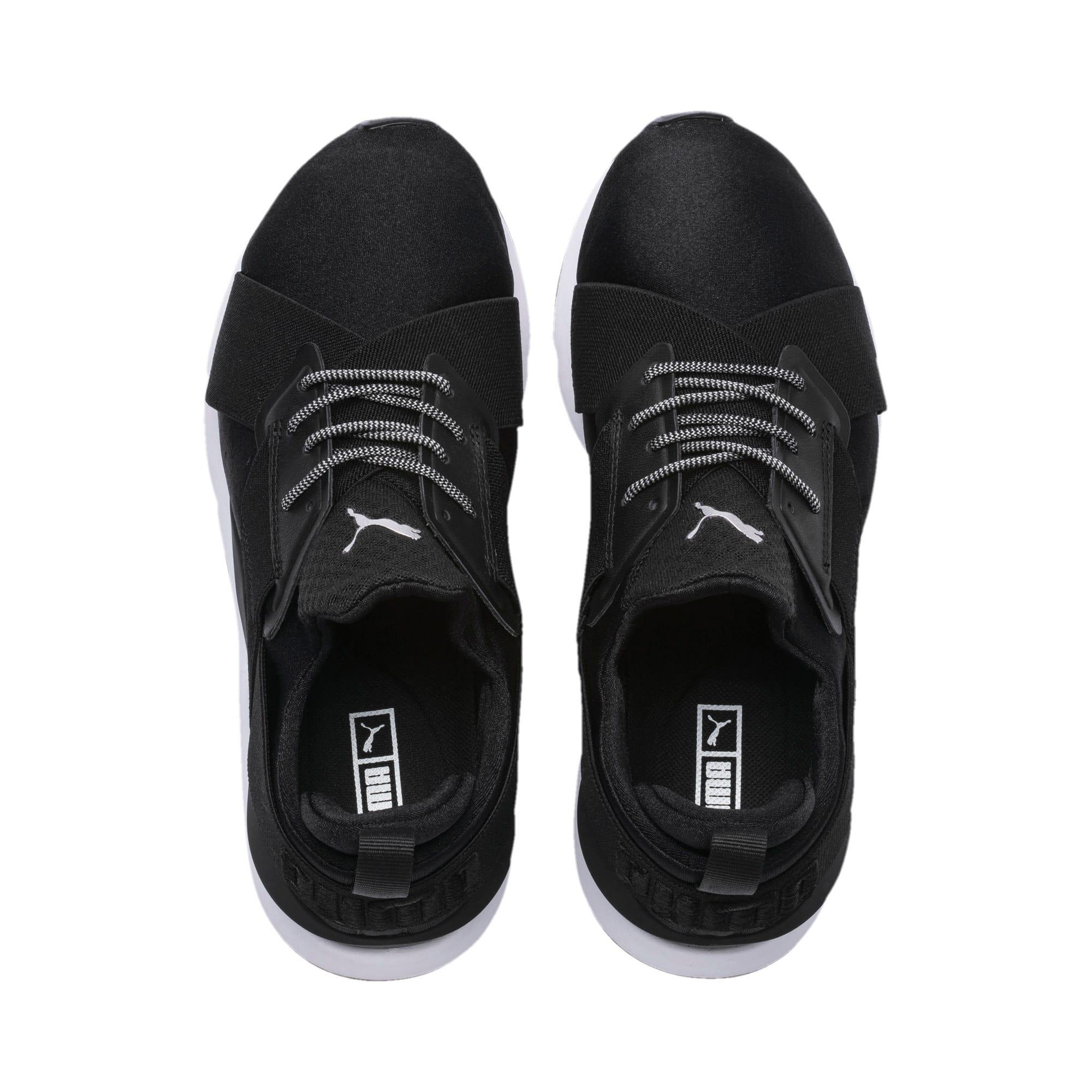 Thumbnail 6 of En Pointe Muse Satin Women's Sneakers, Puma Black-Puma White, medium