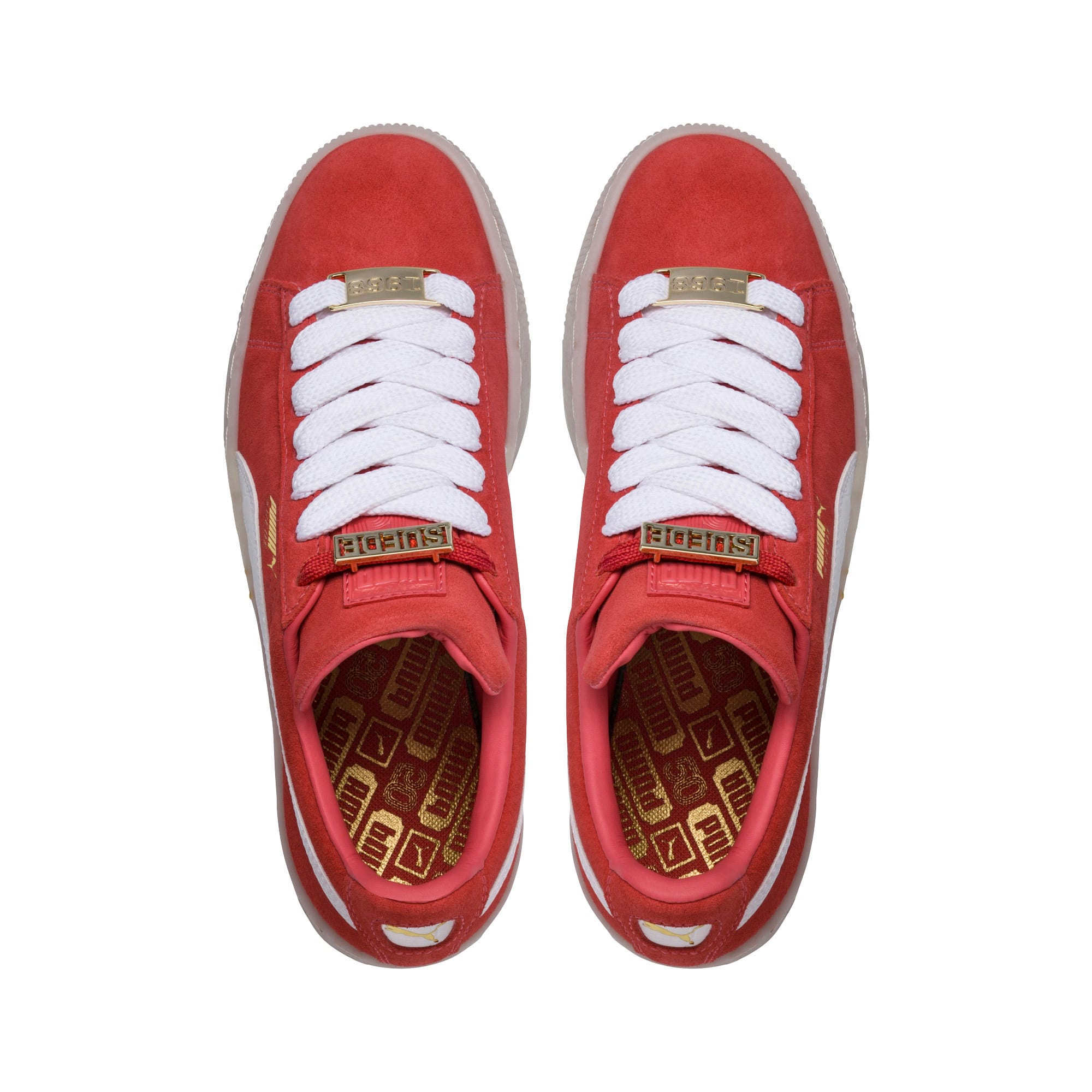 Thumbnail 5 of Suede Classic B-BOY Fabulous Women's Trainers, SpicedCoral-White-Red Dahlia, medium-IND