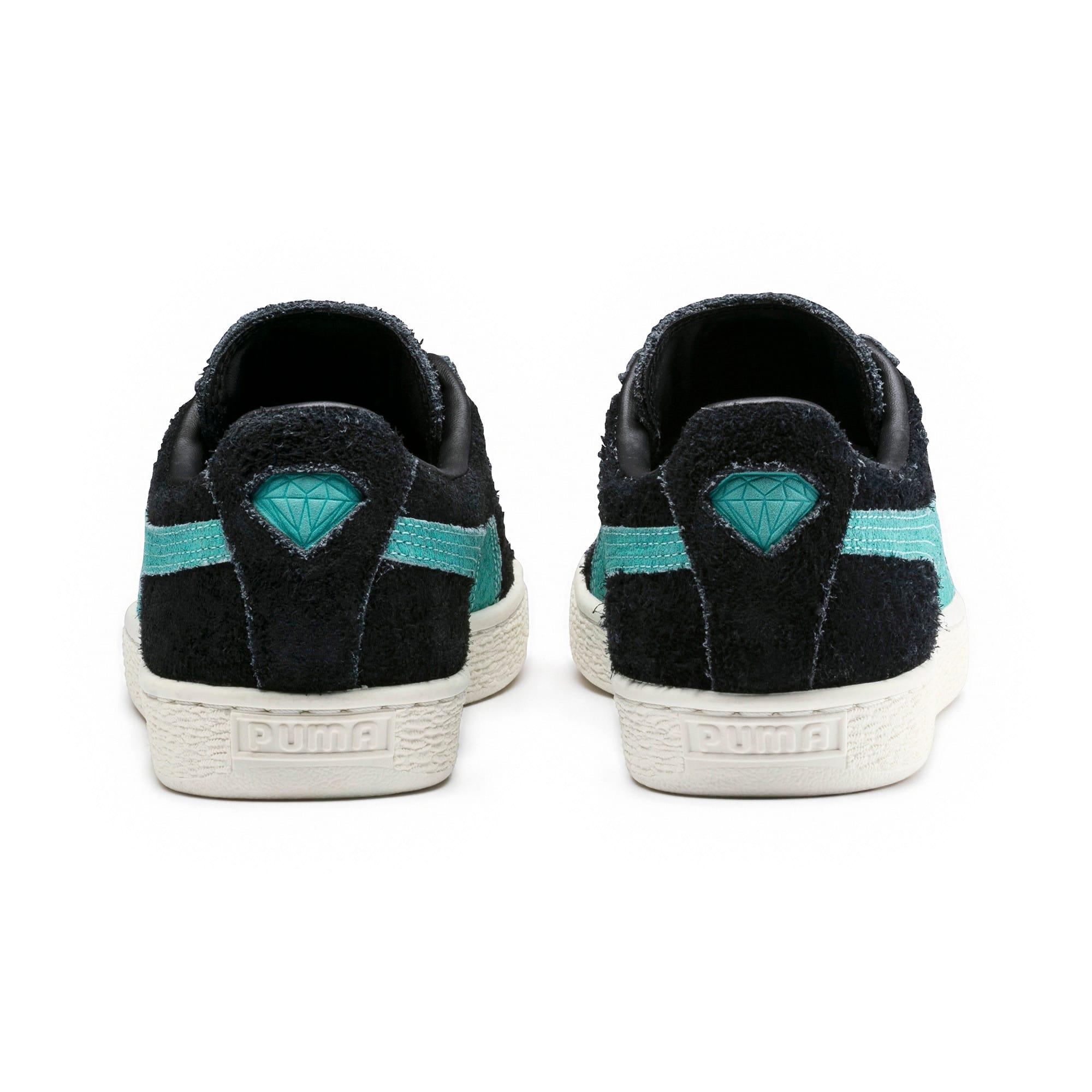 Thumbnail 4 of PUMA x DIAMOND Suede Sneakers, Puma Black-Diamond Blue, medium