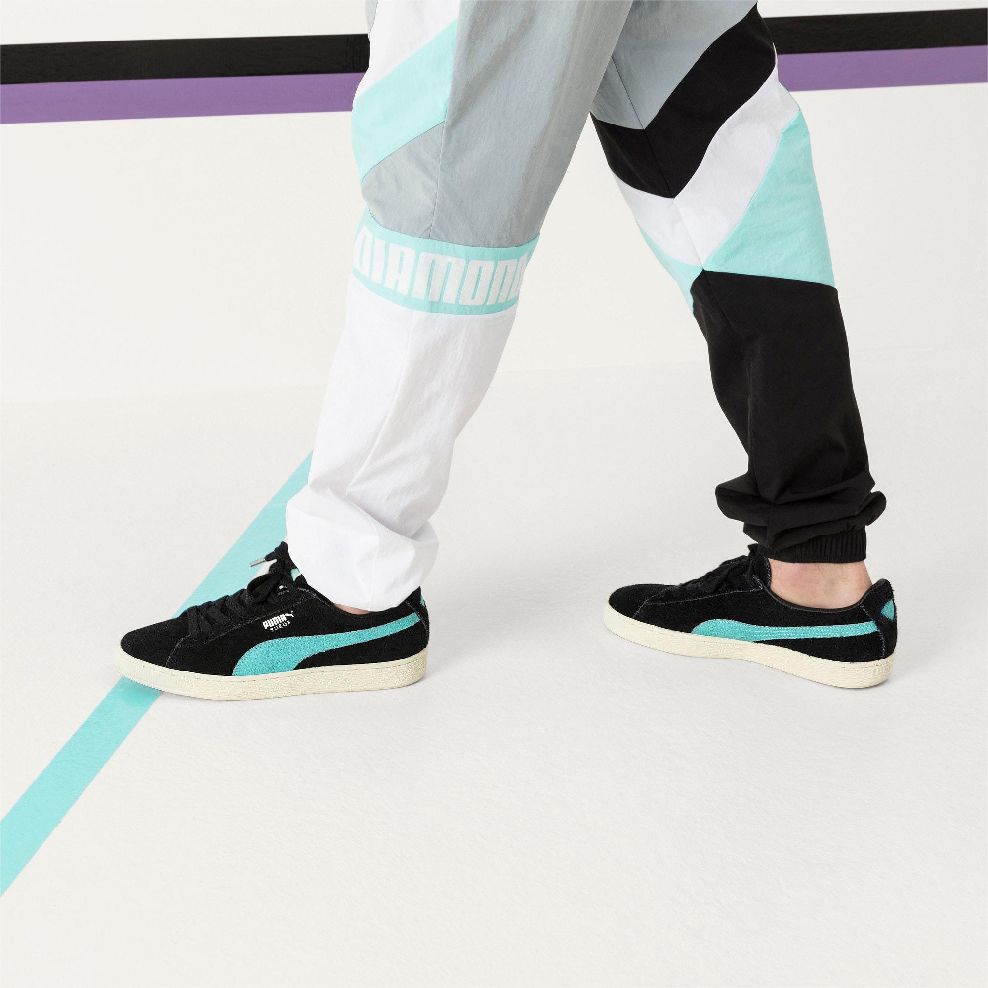 Thumbnail 7 of PUMA x DIAMOND Suede Sneakers, Puma Black-Diamond Blue, medium