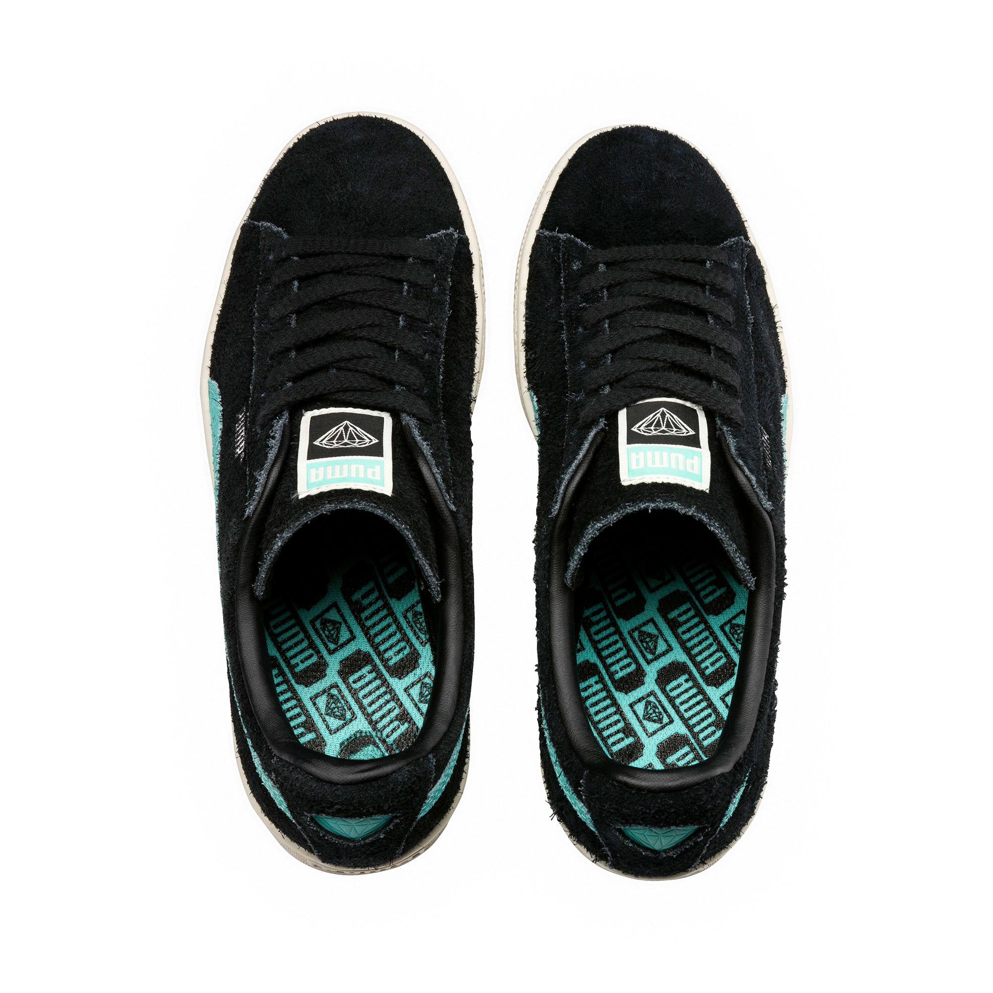 Thumbnail 5 of PUMA x DIAMOND Suede Sneakers, Puma Black-Diamond Blue, medium