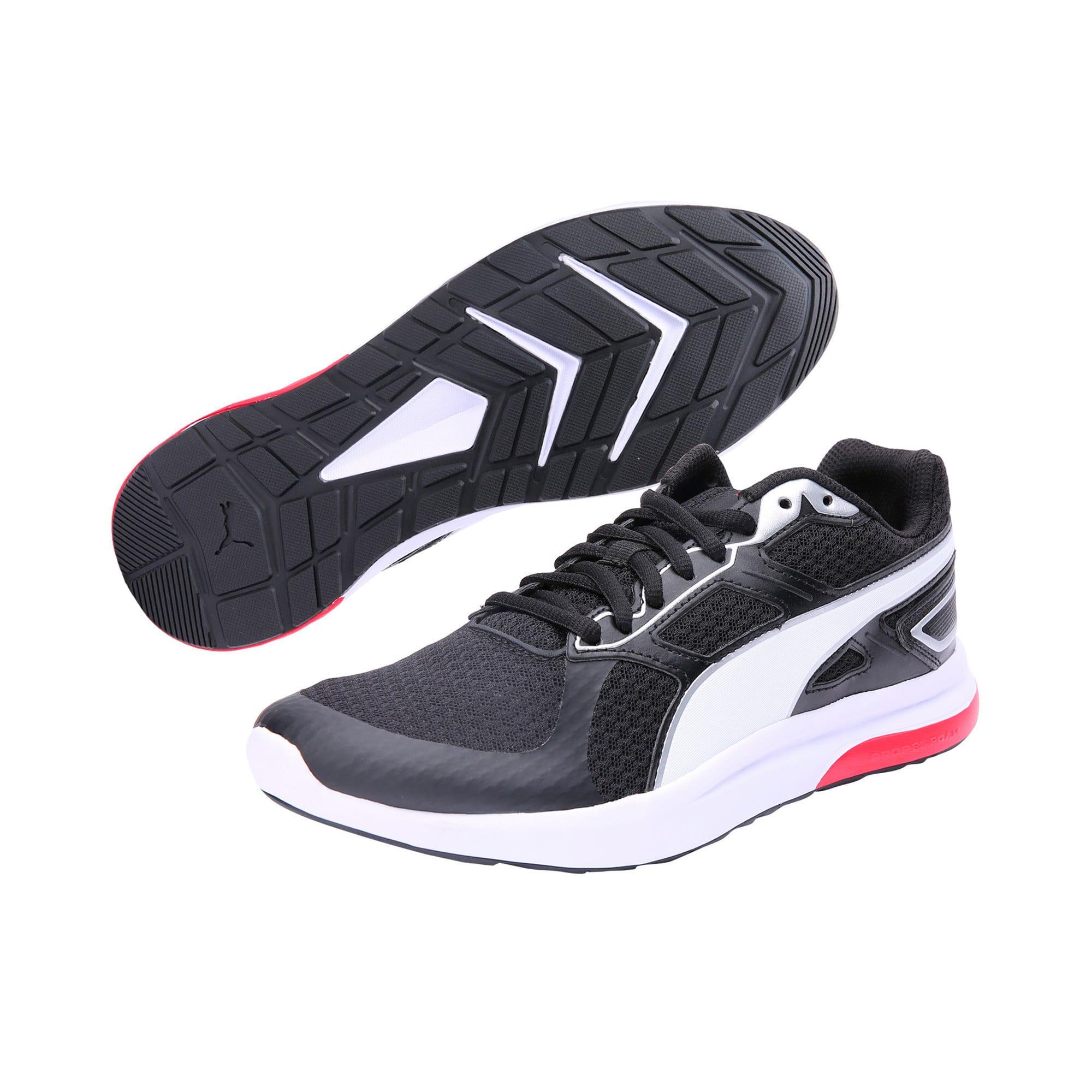 Thumbnail 2 of Escaper Tech Sneakers, P. Black-P. White-Fl.Scarlet, medium-IND