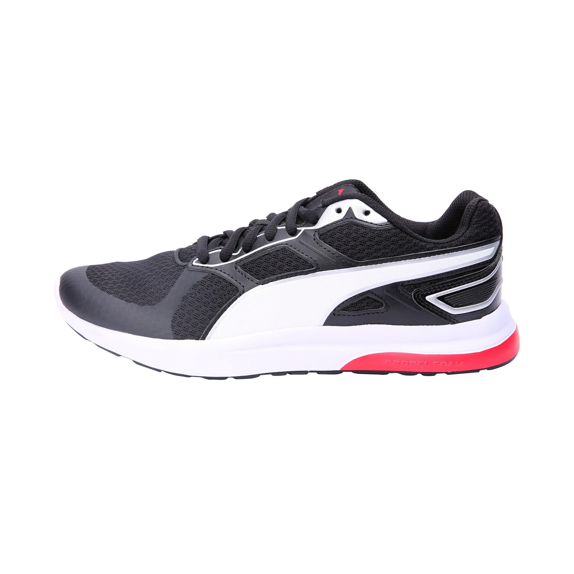 Thumbnail 1 of Escaper Tech Sneakers, P. Black-P. White-Fl.Scarlet, medium-IND