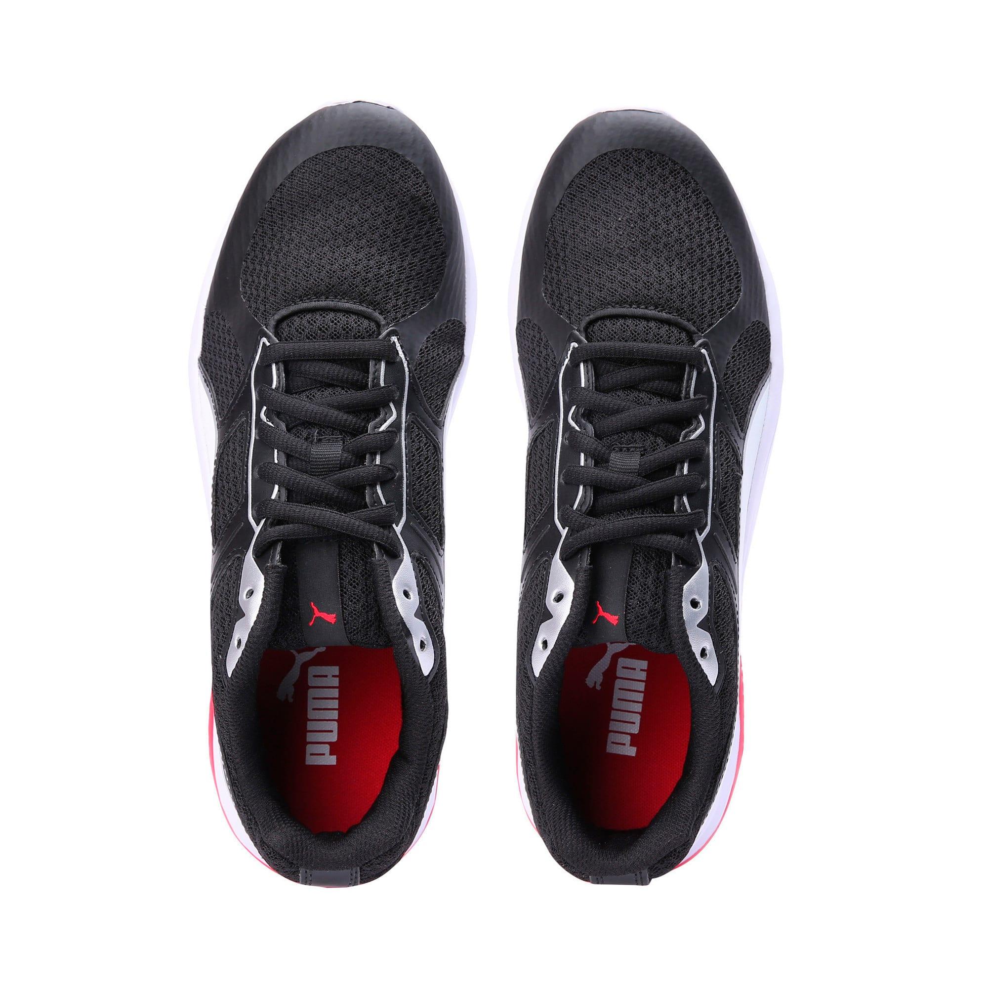 Thumbnail 6 of Escaper Tech Sneakers, P. Black-P. White-Fl.Scarlet, medium-IND