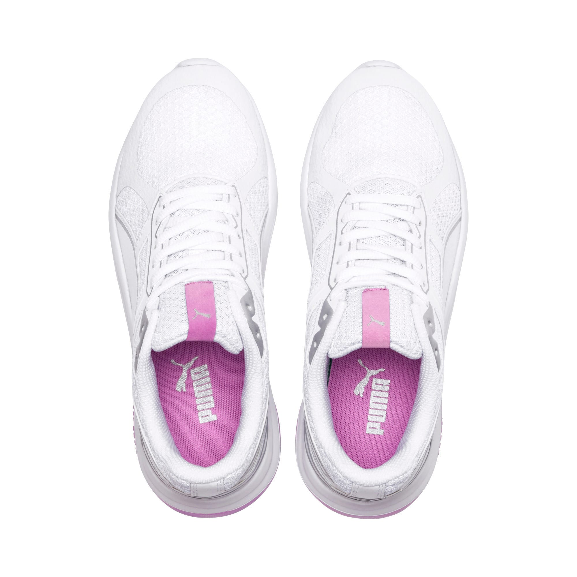 Thumbnail 6 of Escaper Tech Sneakers, Puma White-Puma White-Orchid, medium-IND
