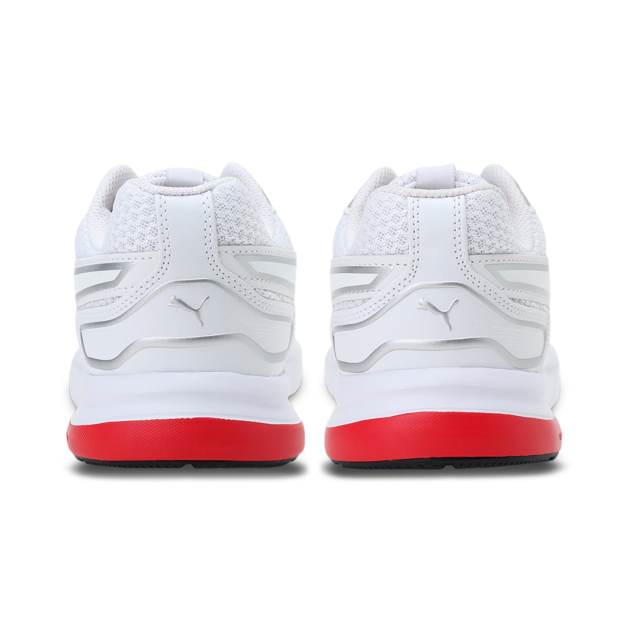 Thumbnail 3 of Escaper Tech Sneakers, White-Silver-High Risk Red, medium-IND
