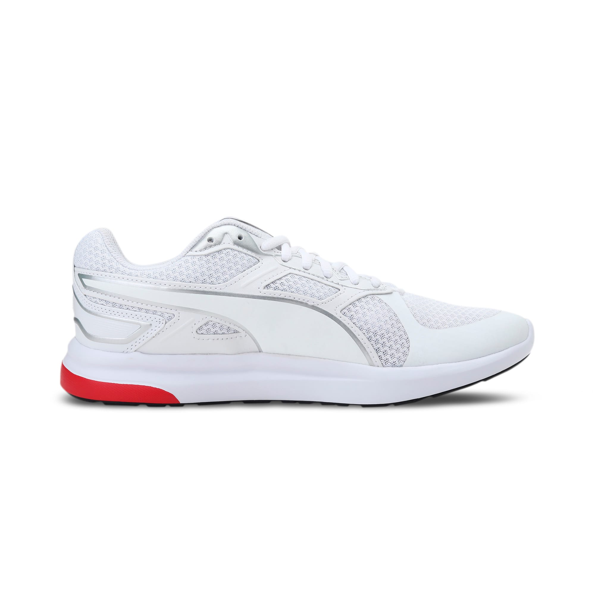 Thumbnail 5 of Escaper Tech Sneakers, White-Silver-High Risk Red, medium-IND