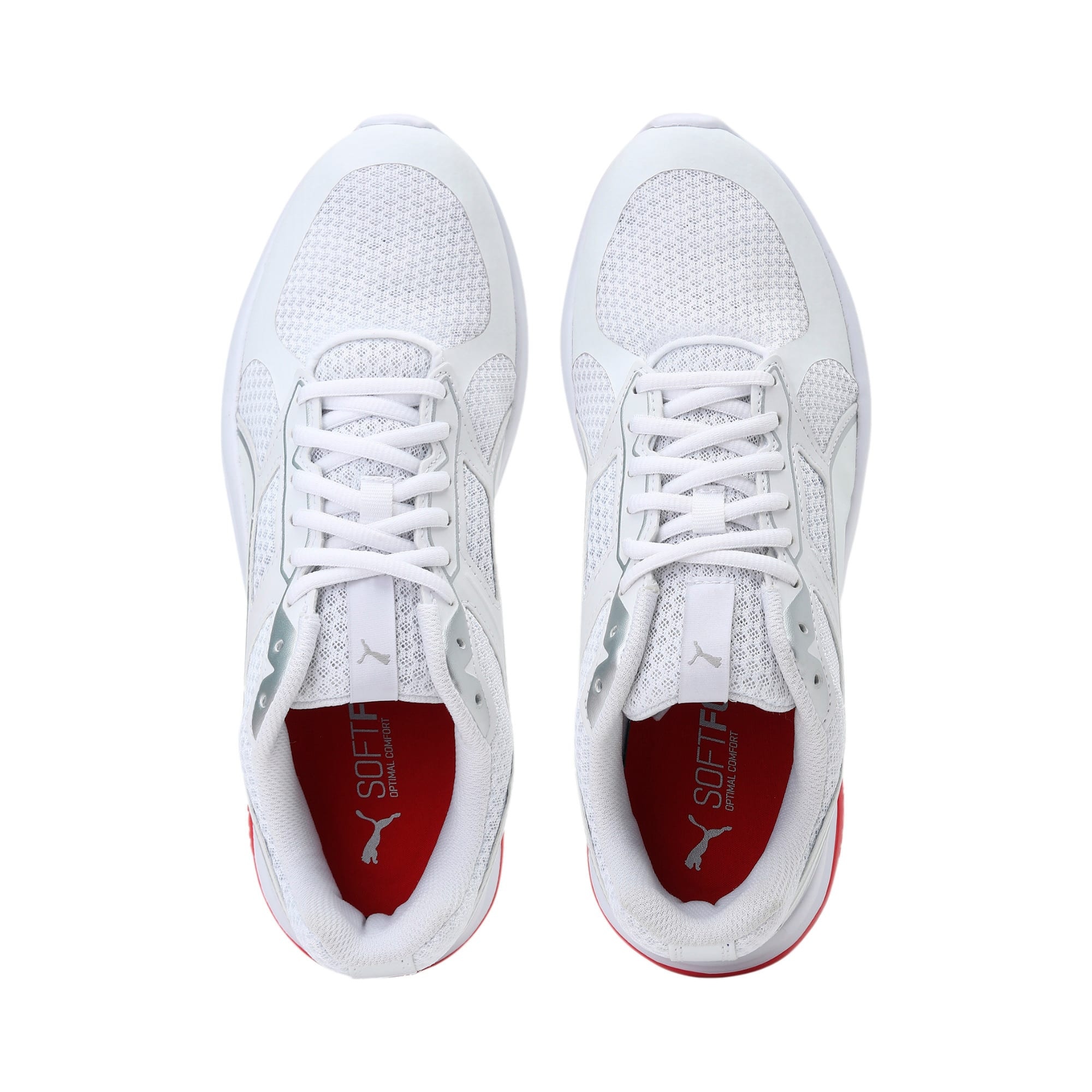 Thumbnail 6 of Escaper Tech Sneakers, White-Silver-High Risk Red, medium-IND