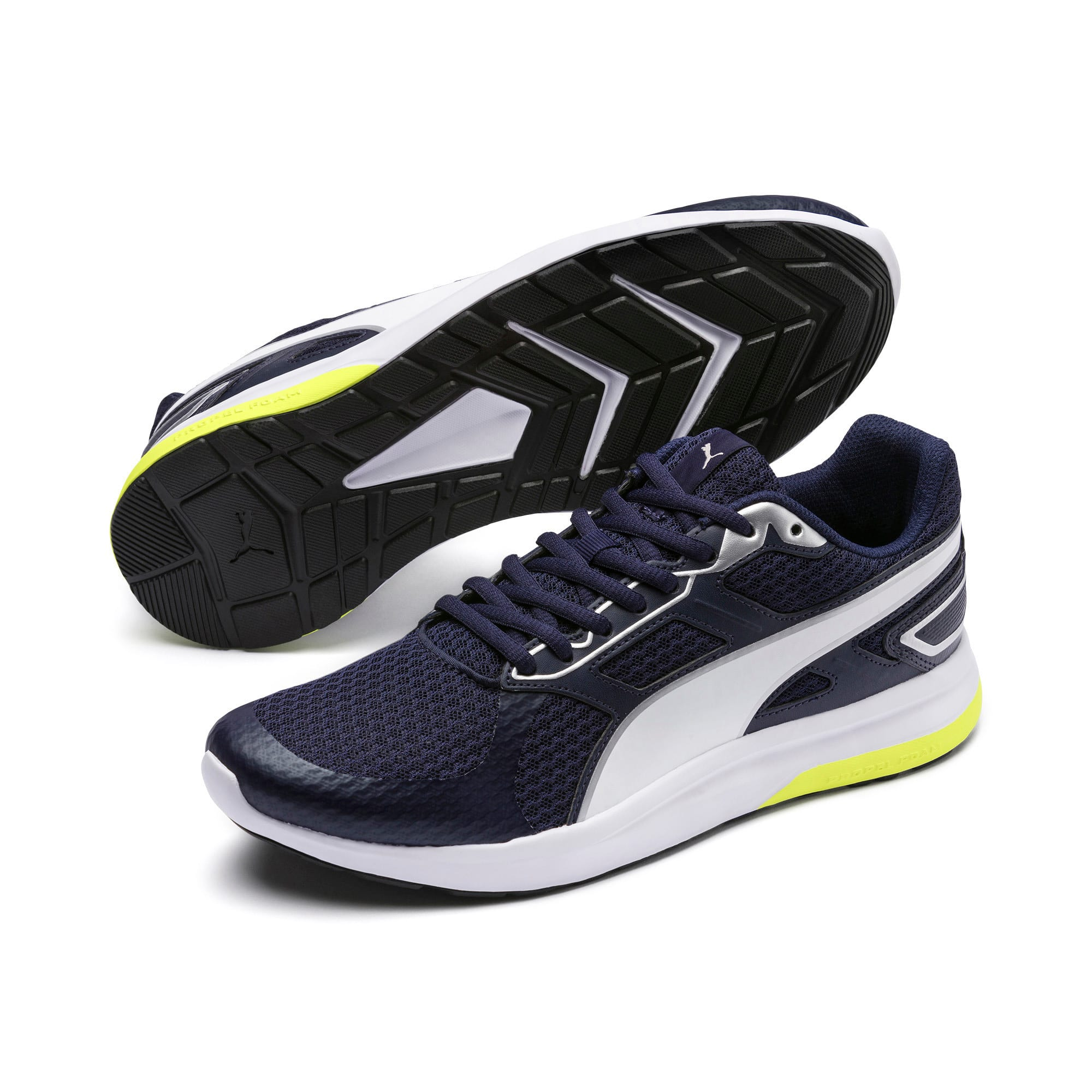 Thumbnail 3 of Escaper Tech Sneakers, Peacoat-Silver-White-Yellow, medium-IND