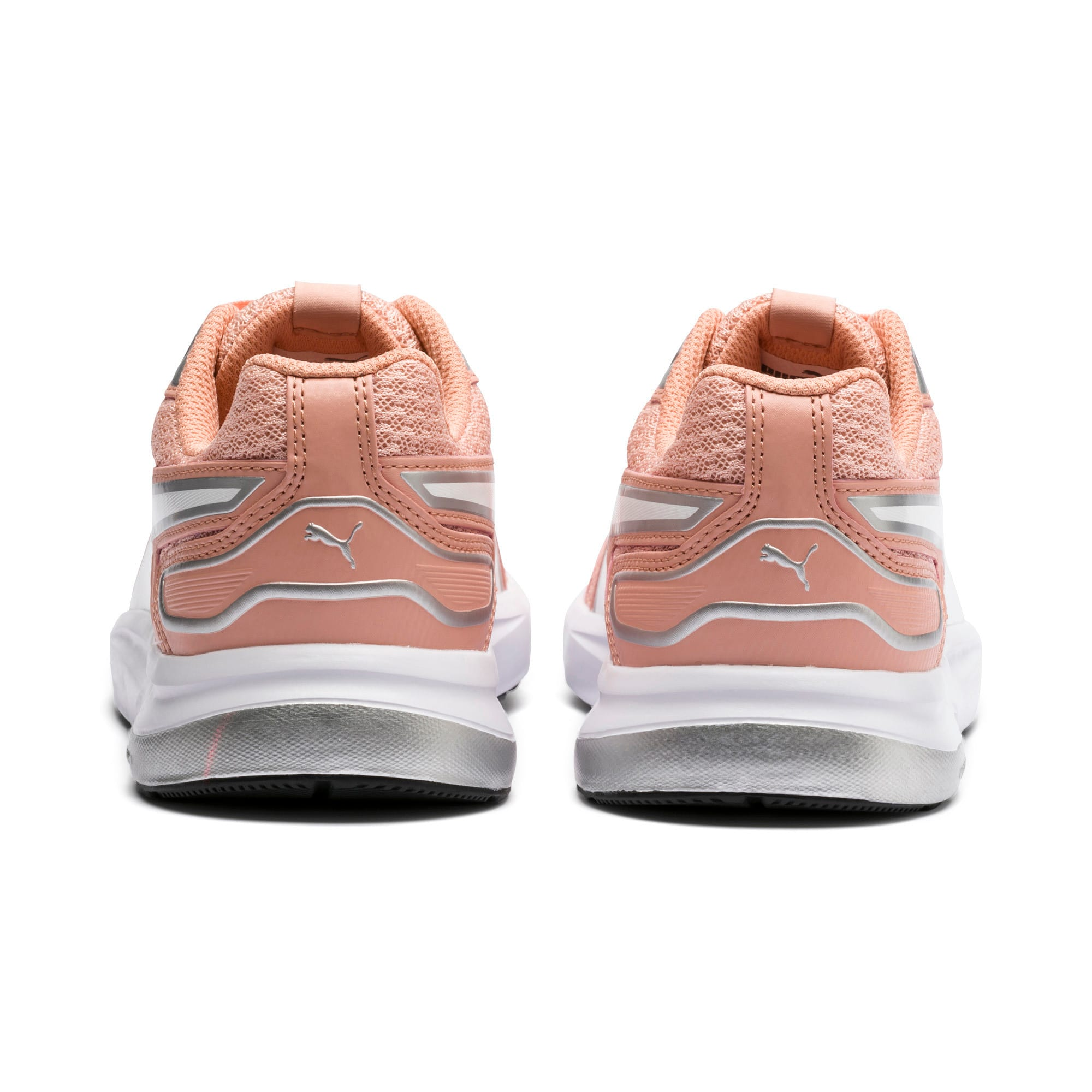 Thumbnail 4 of Escaper Tech Sneakers, Peach Bud-Silver-Puma White, medium-IND
