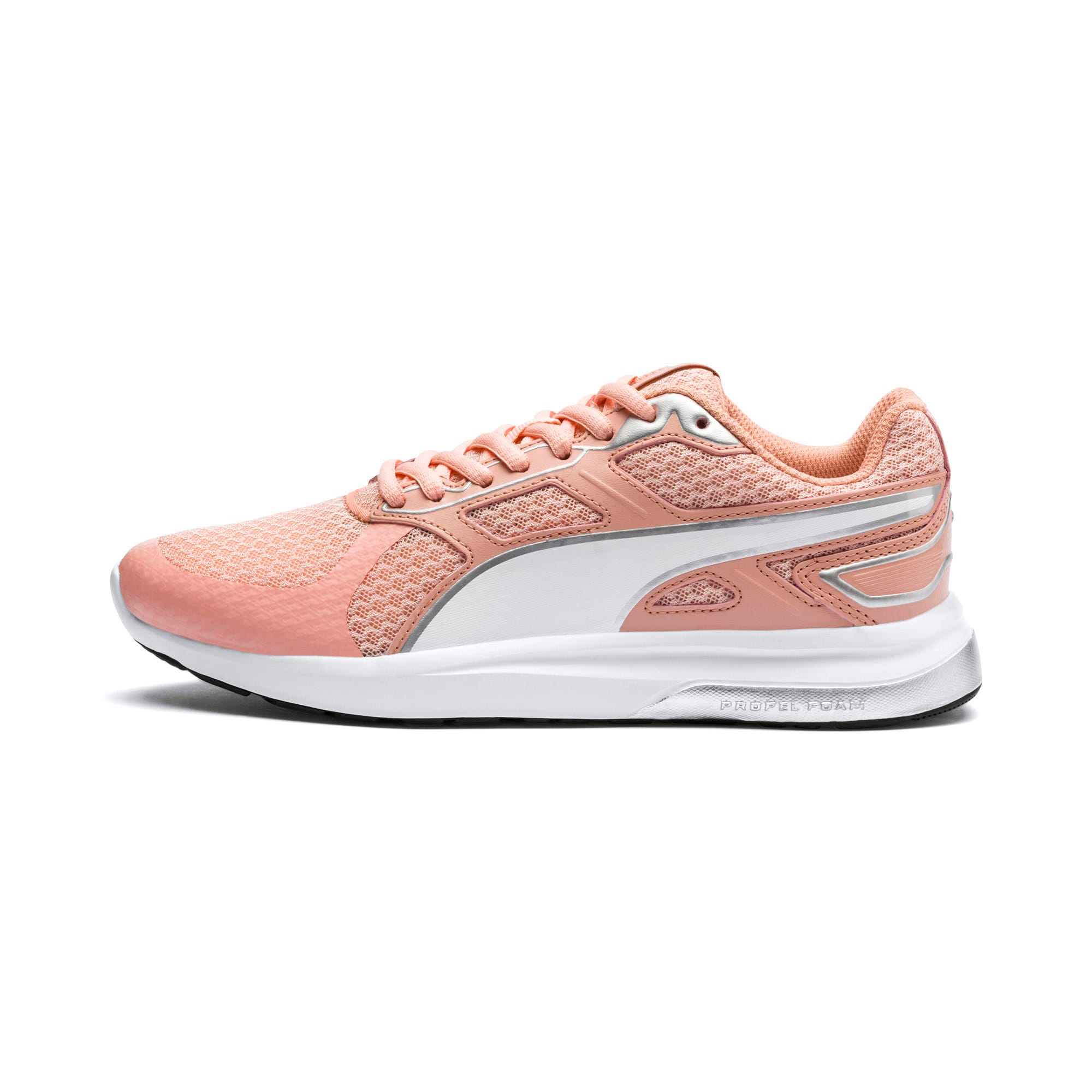 Thumbnail 1 of Escaper Tech Sneakers, Peach Bud-Silver-Puma White, medium-IND