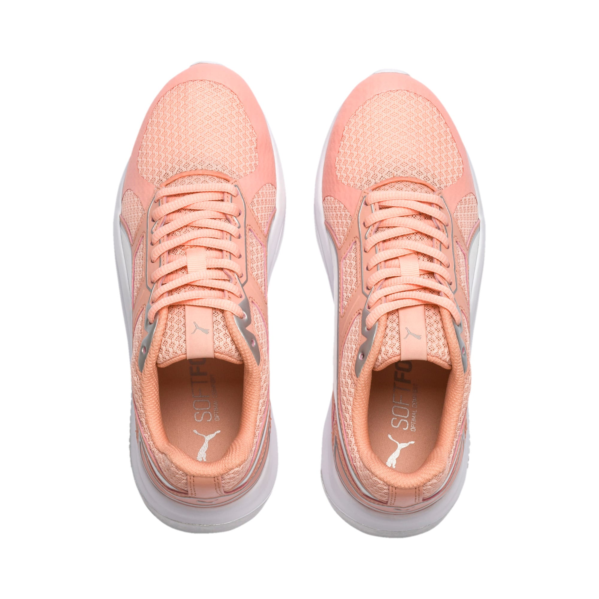 Thumbnail 6 of Escaper Tech Sneakers, Peach Bud-Silver-Puma White, medium-IND