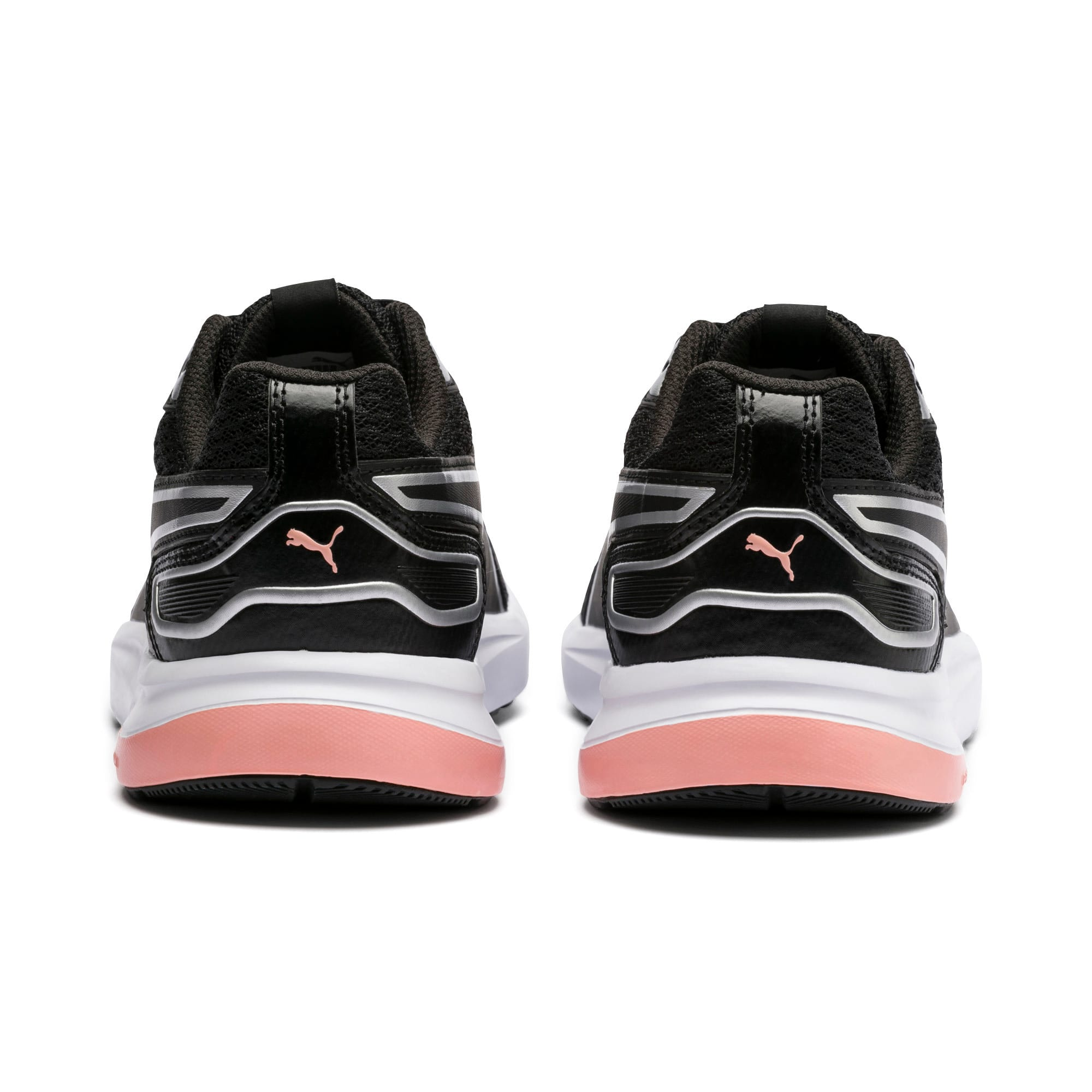 Thumbnail 3 of Escaper Tech Sneakers, Black-Silver-White-Peach Bud, medium-IND