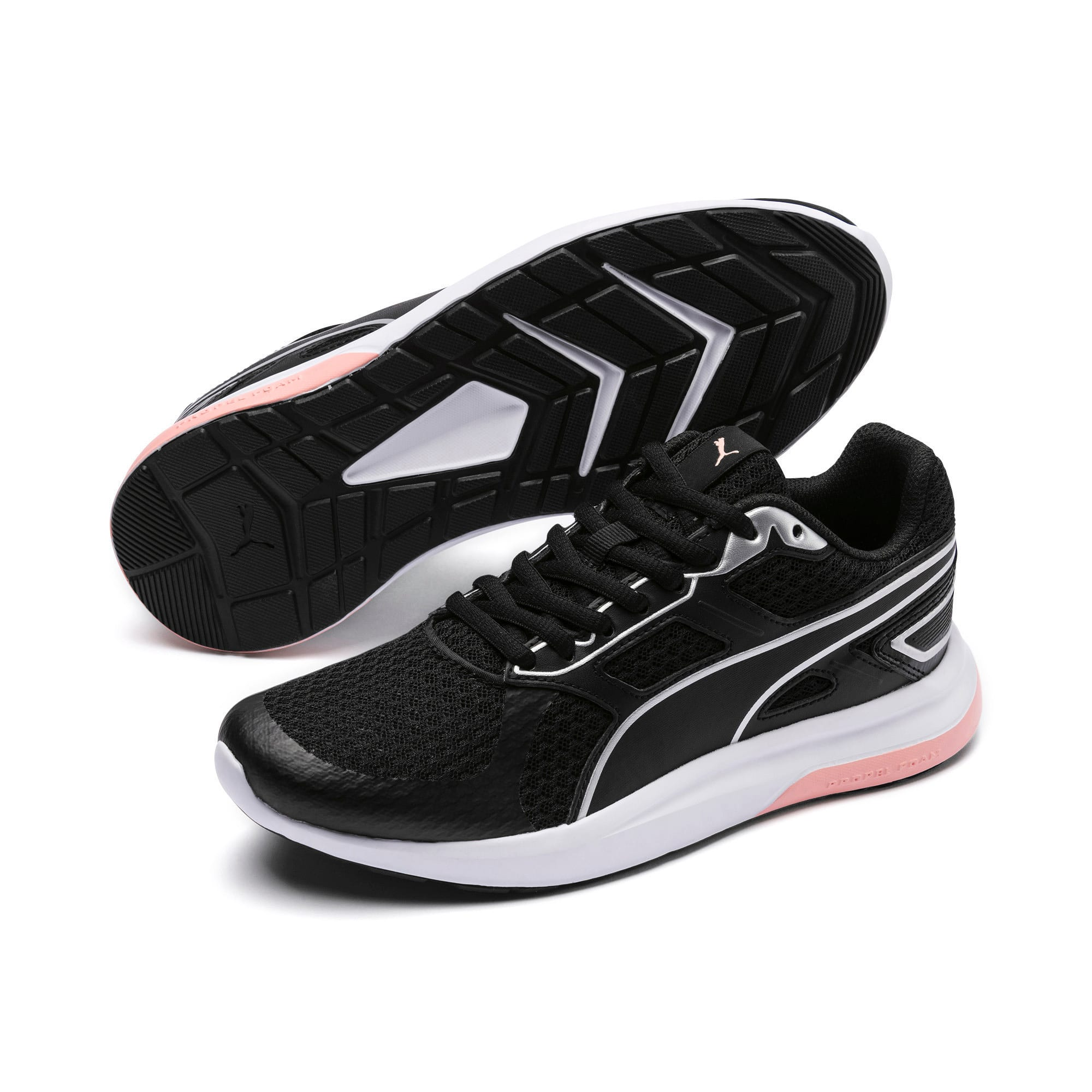 Thumbnail 2 of Escaper Tech Sneakers, Black-Silver-White-Peach Bud, medium-IND
