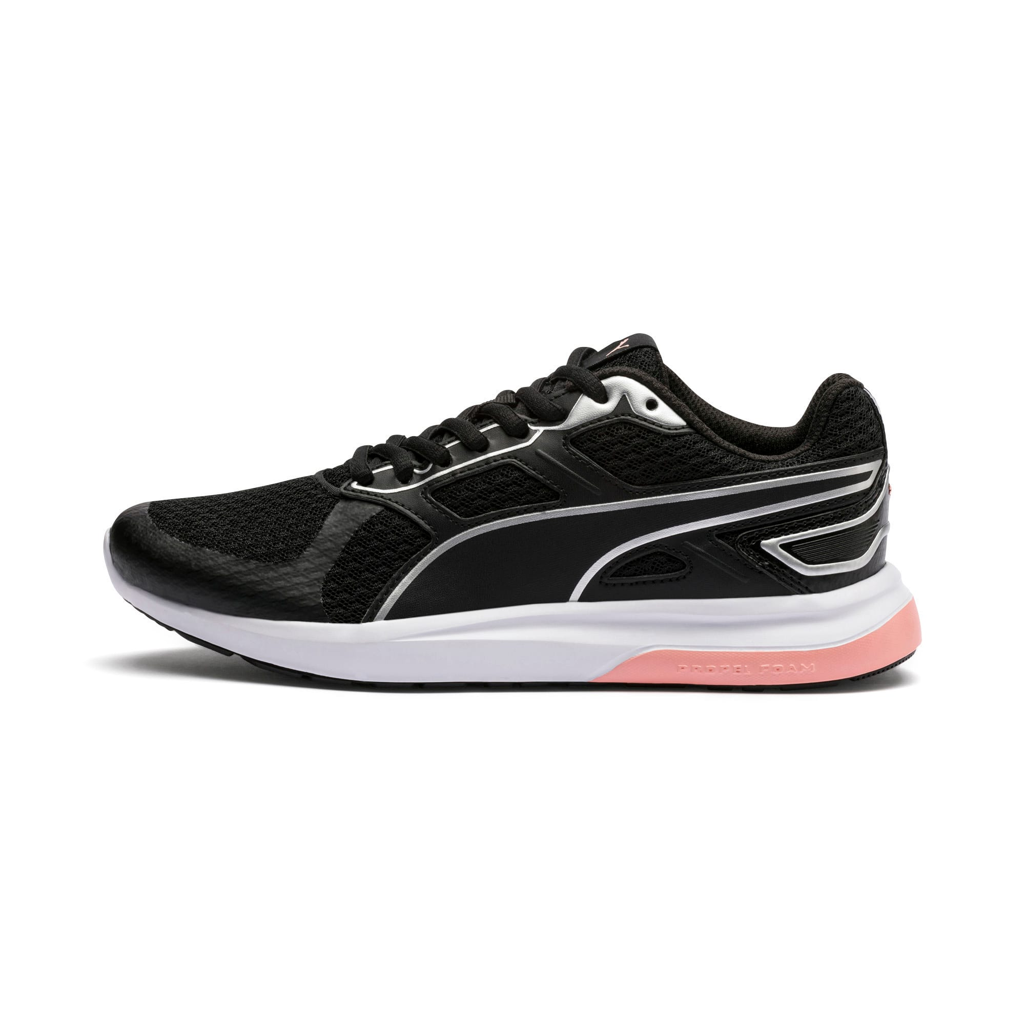 Thumbnail 1 of Escaper Tech Sneakers, Black-Silver-White-Peach Bud, medium-IND