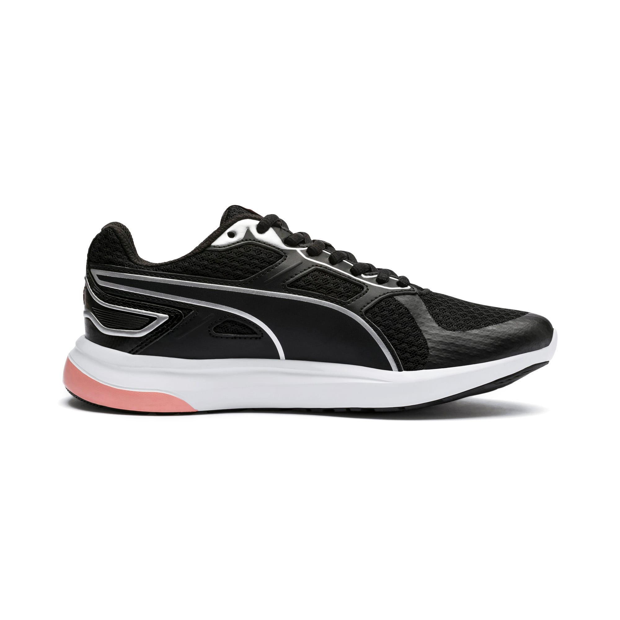 Thumbnail 5 of Escaper Tech Sneakers, Black-Silver-White-Peach Bud, medium-IND